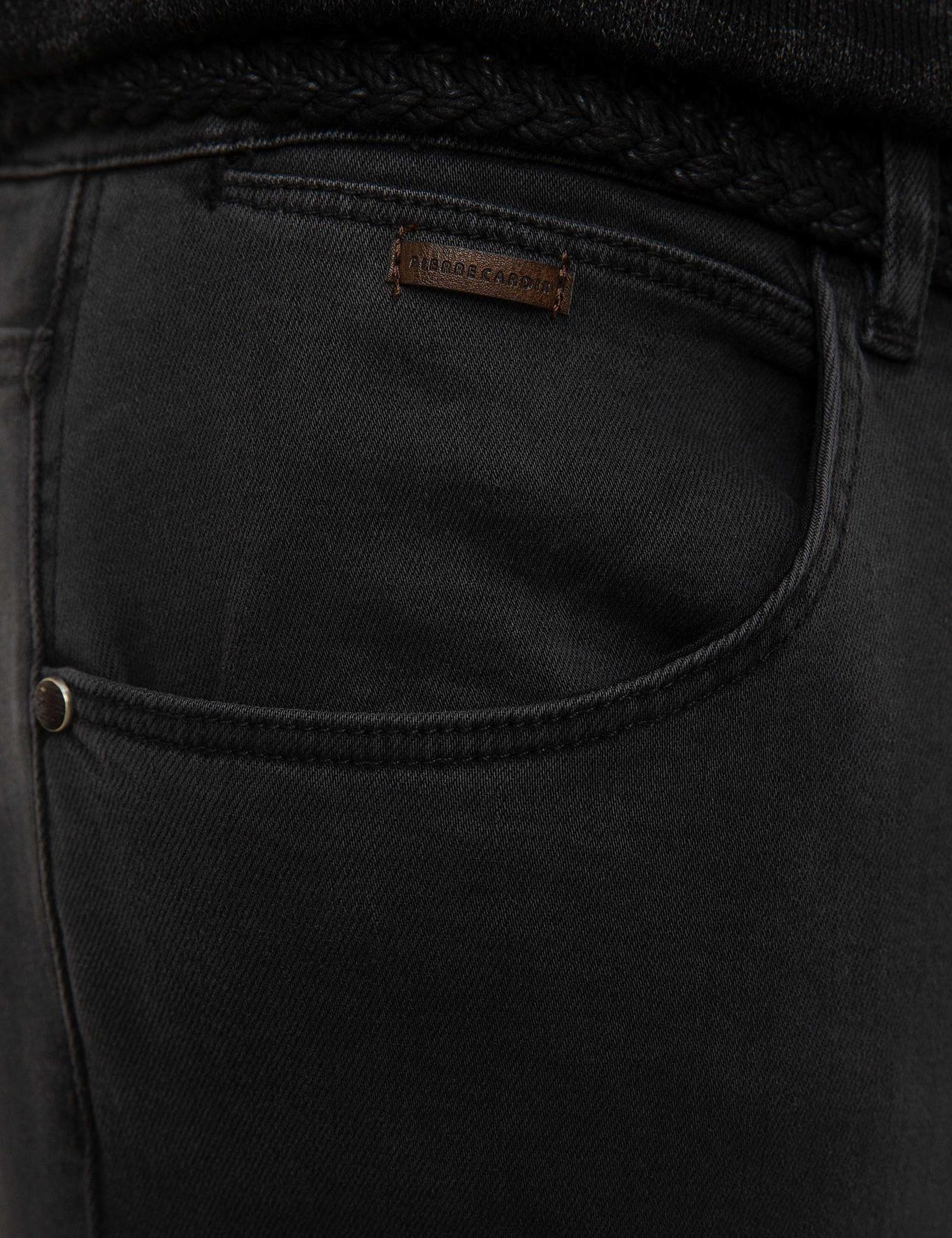 Antrasit Real Slim Fit Denim Pantolon