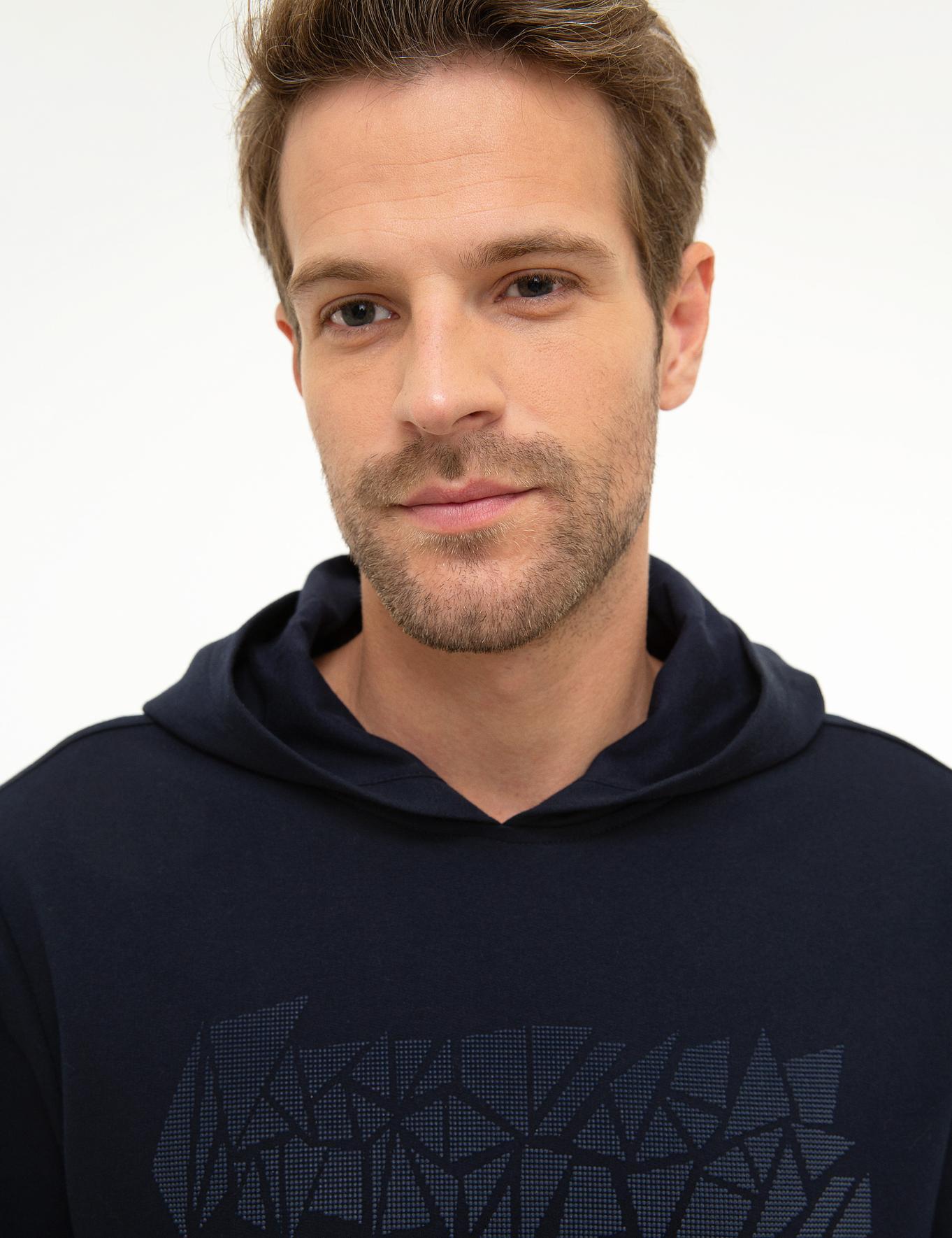Lacivert Standart Fit Sweatshirt