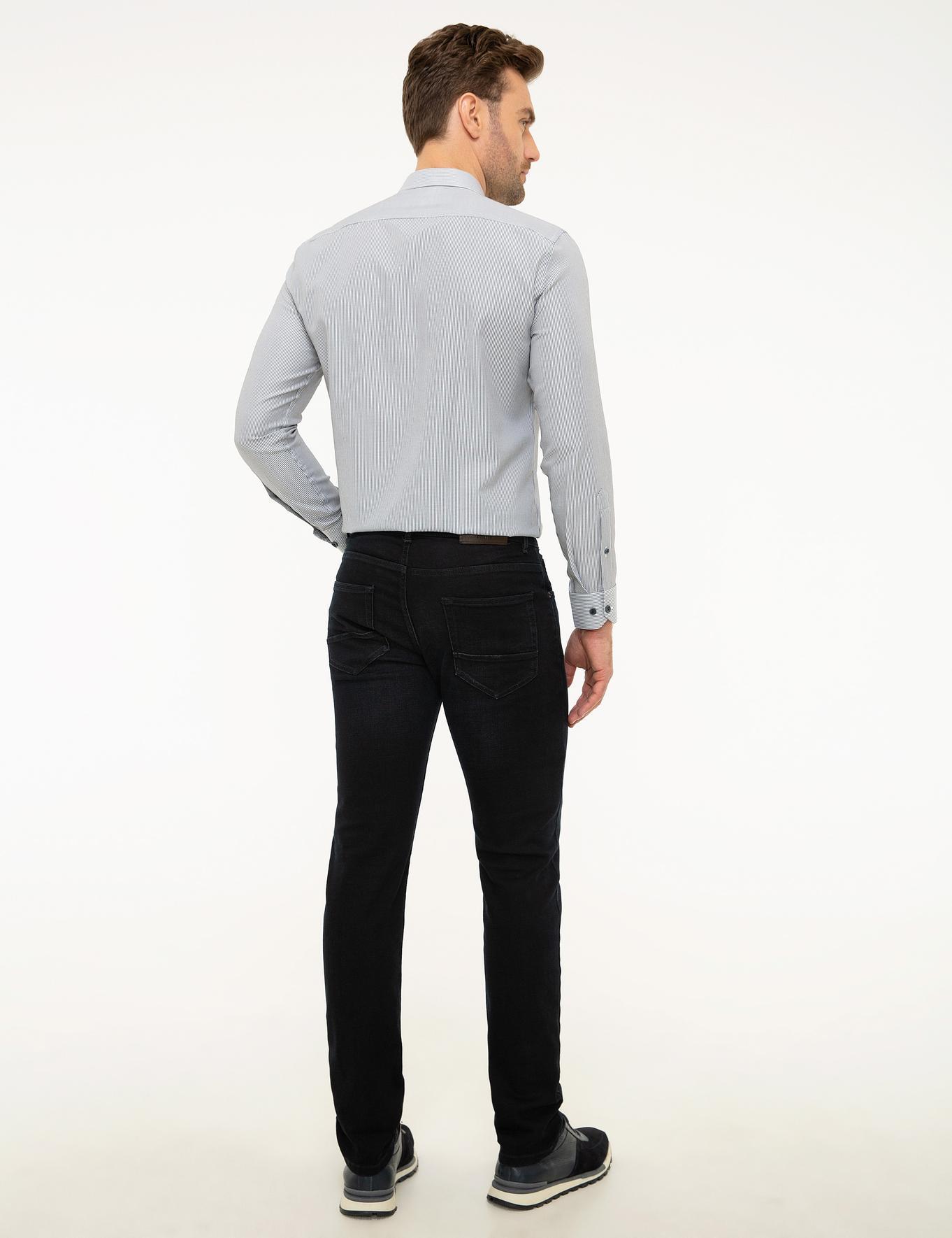 Koyu Lacivert Slim Fit Denim Pantolon