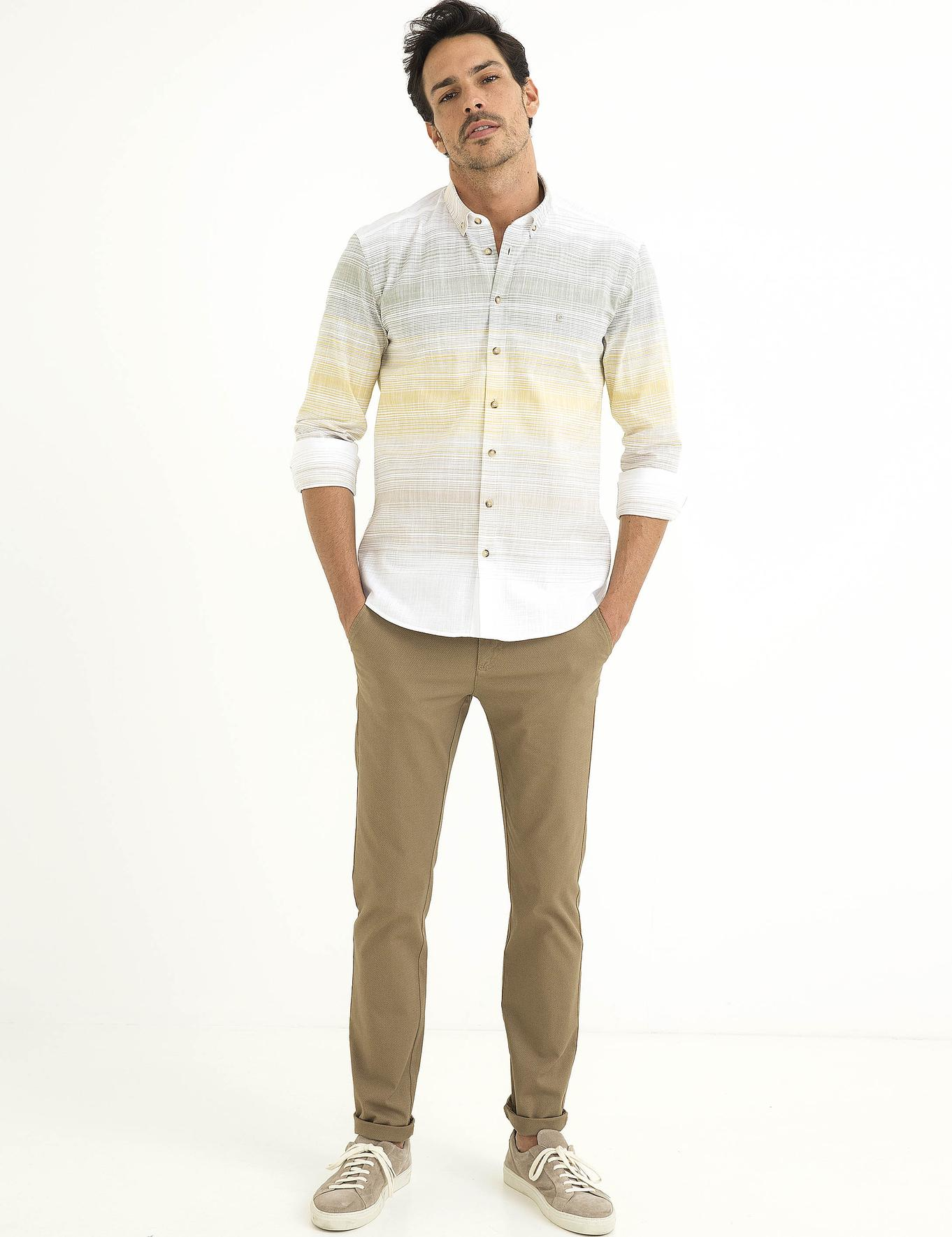 Slim Sarı Gömlek