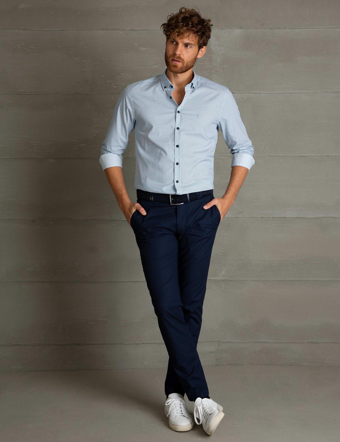 Mavi Slim Fit Gömlek