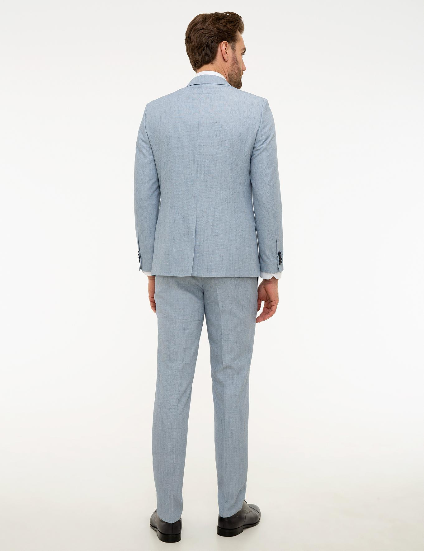 Açık Mavi Ekstra Slim Fit Takım Elbise