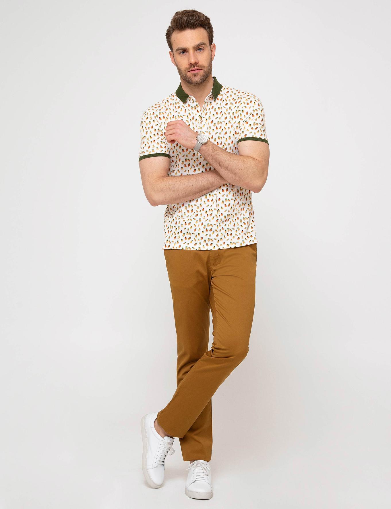 Hardal Slim Fit Chino Pantolon