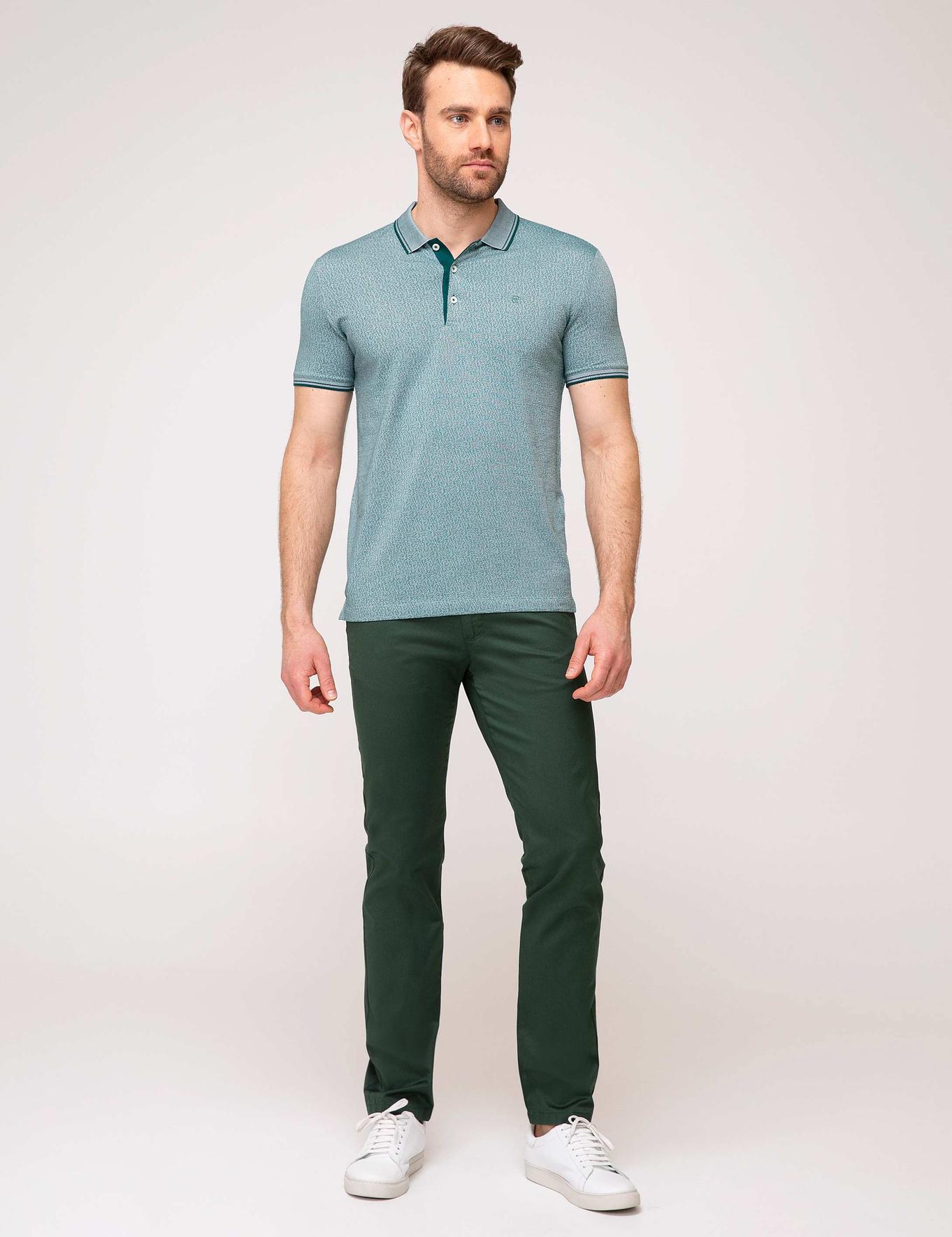 Koyu Yeşil Slim Fit Chino Pantolon