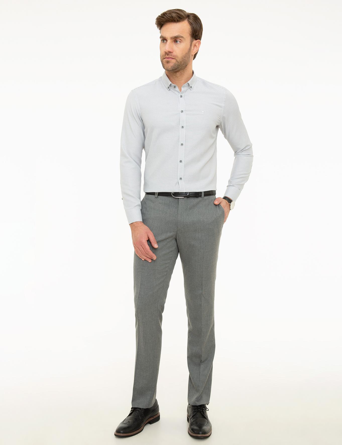 Gri Slim Fit Gömlek