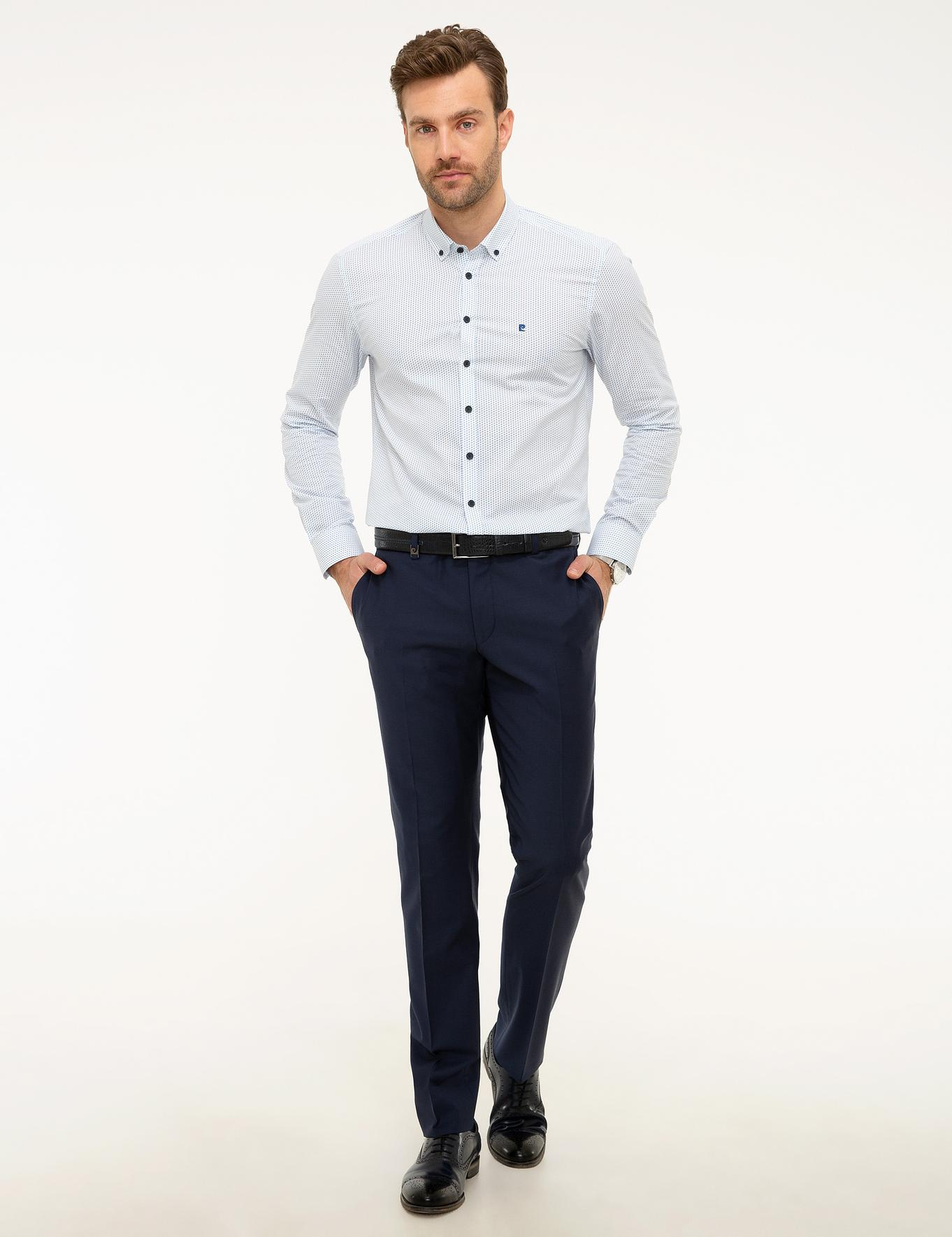Açık Lacivert Slim Fit Pantolon