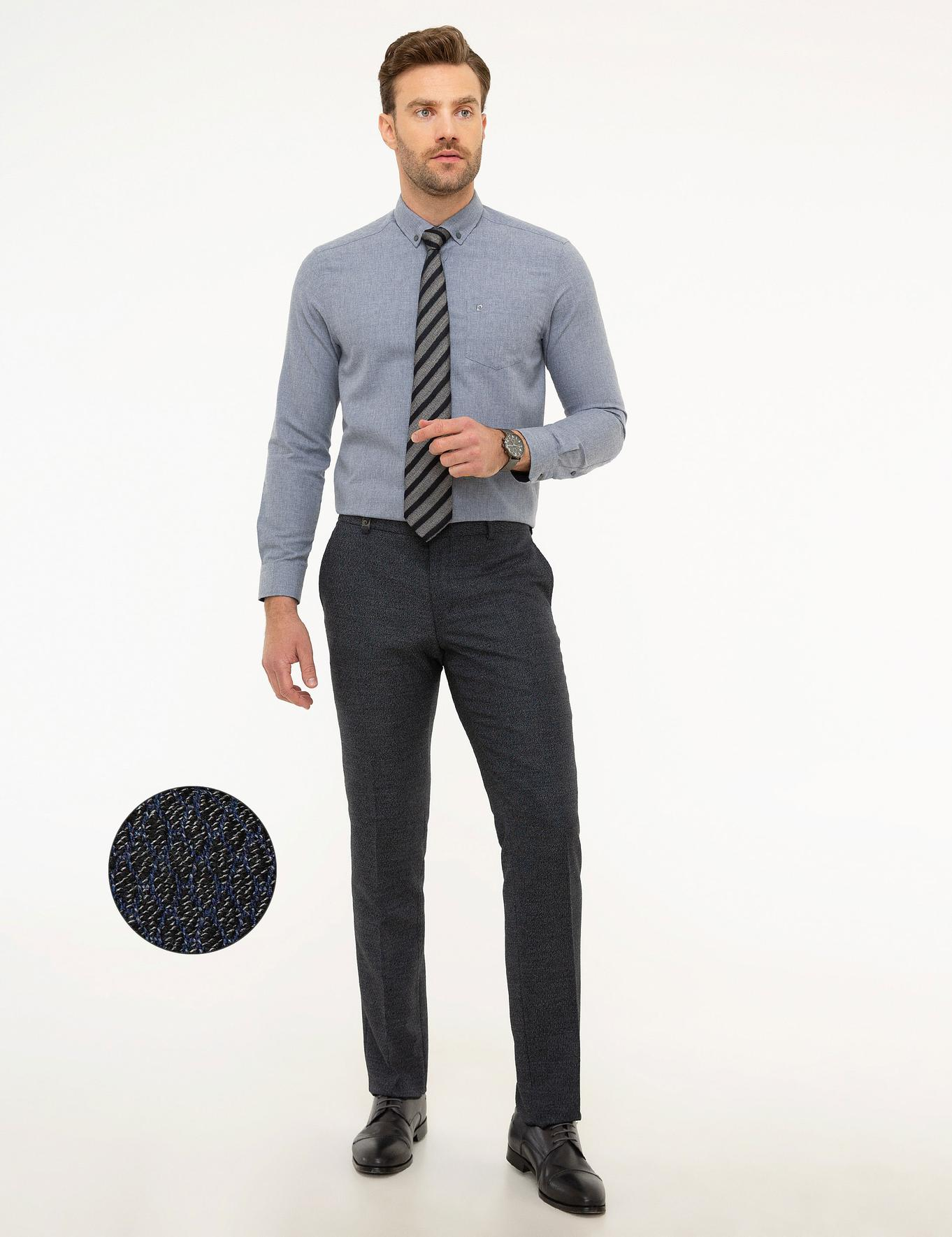Lacivert Slim Fit Pantolon