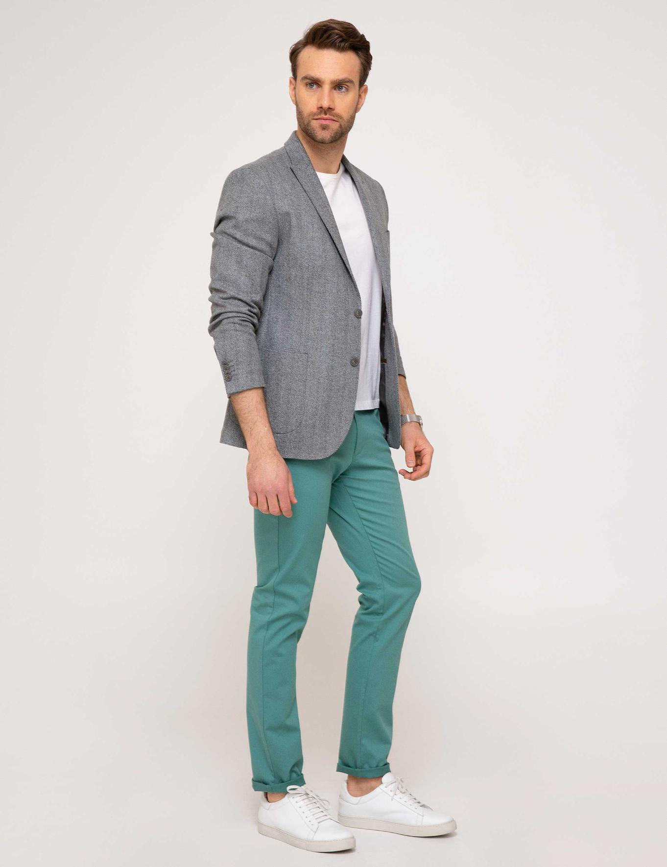 Nil Yeşil Slim Fit Chino Pantolon