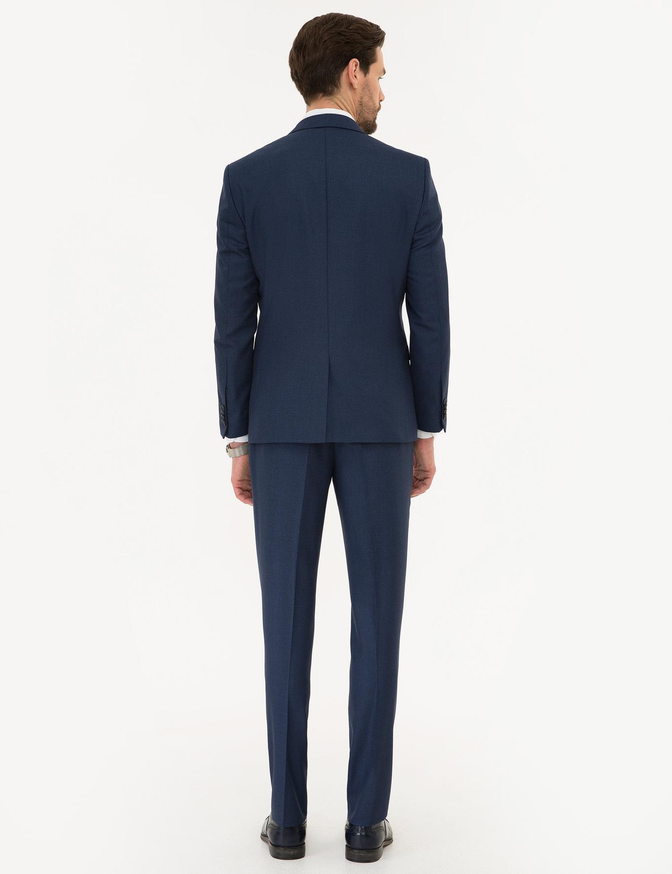 Açık Lacivert Slim Fit Takım Elbise