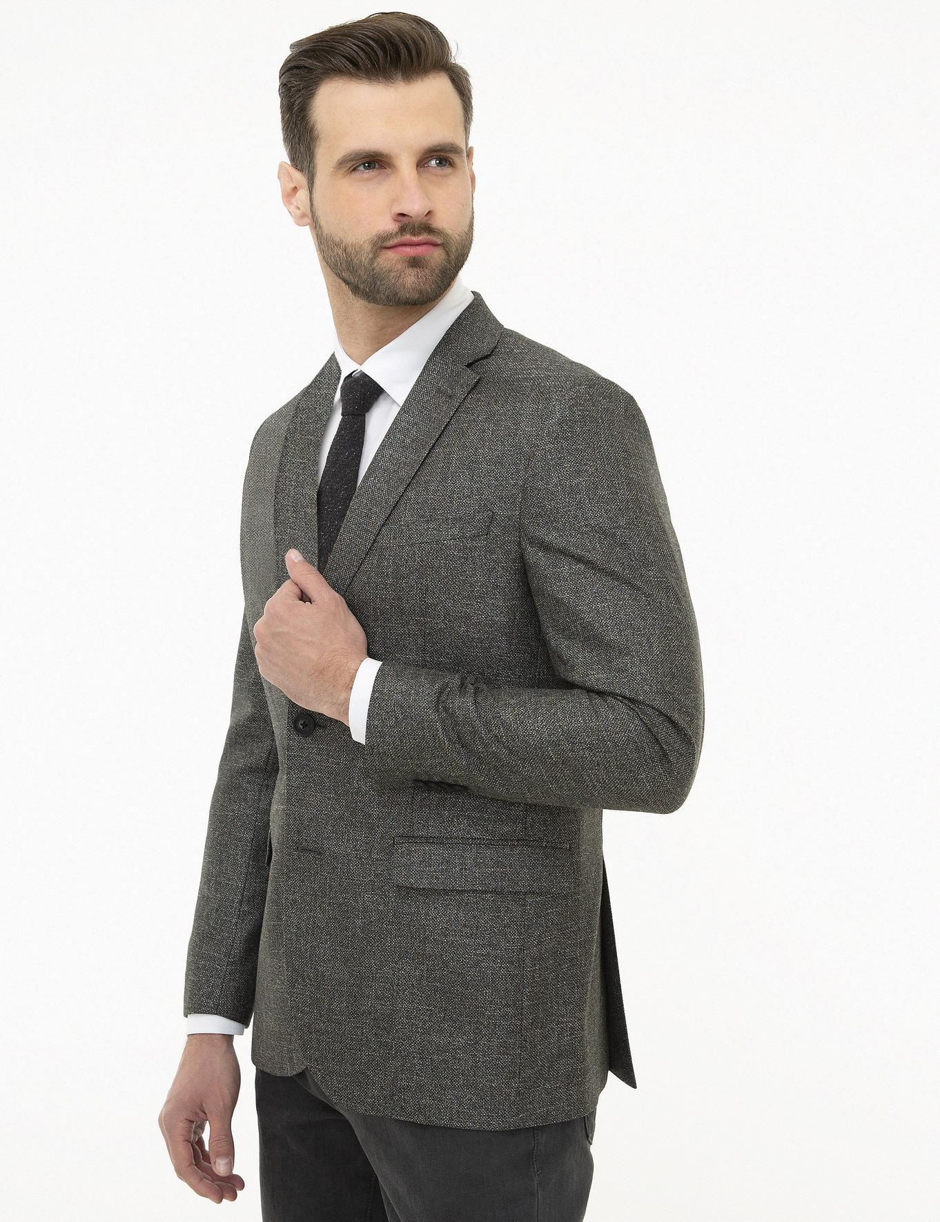 Antrasit Slim Fit Ceket