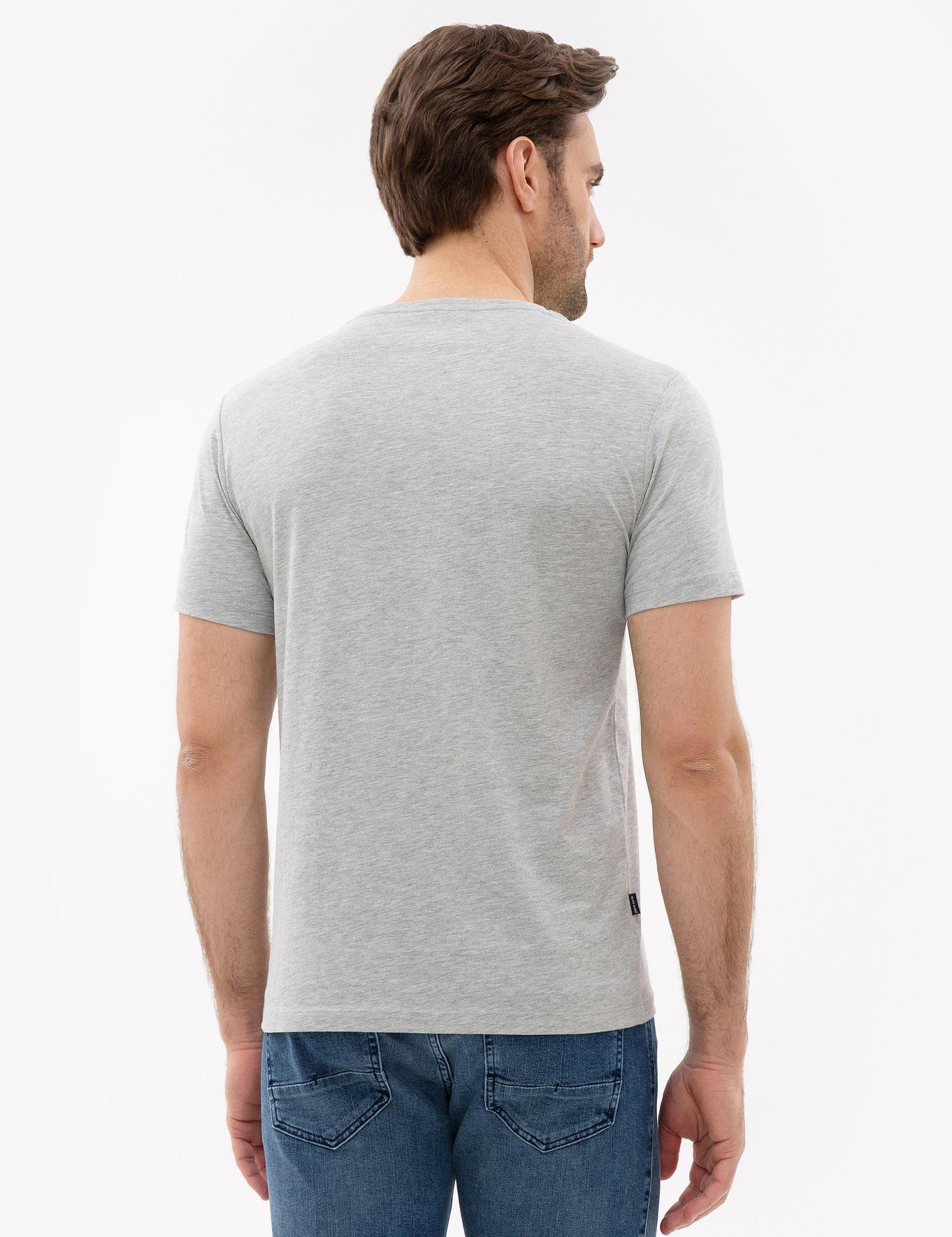 Açık Gri Melanj Slim Fit T-Shirt
