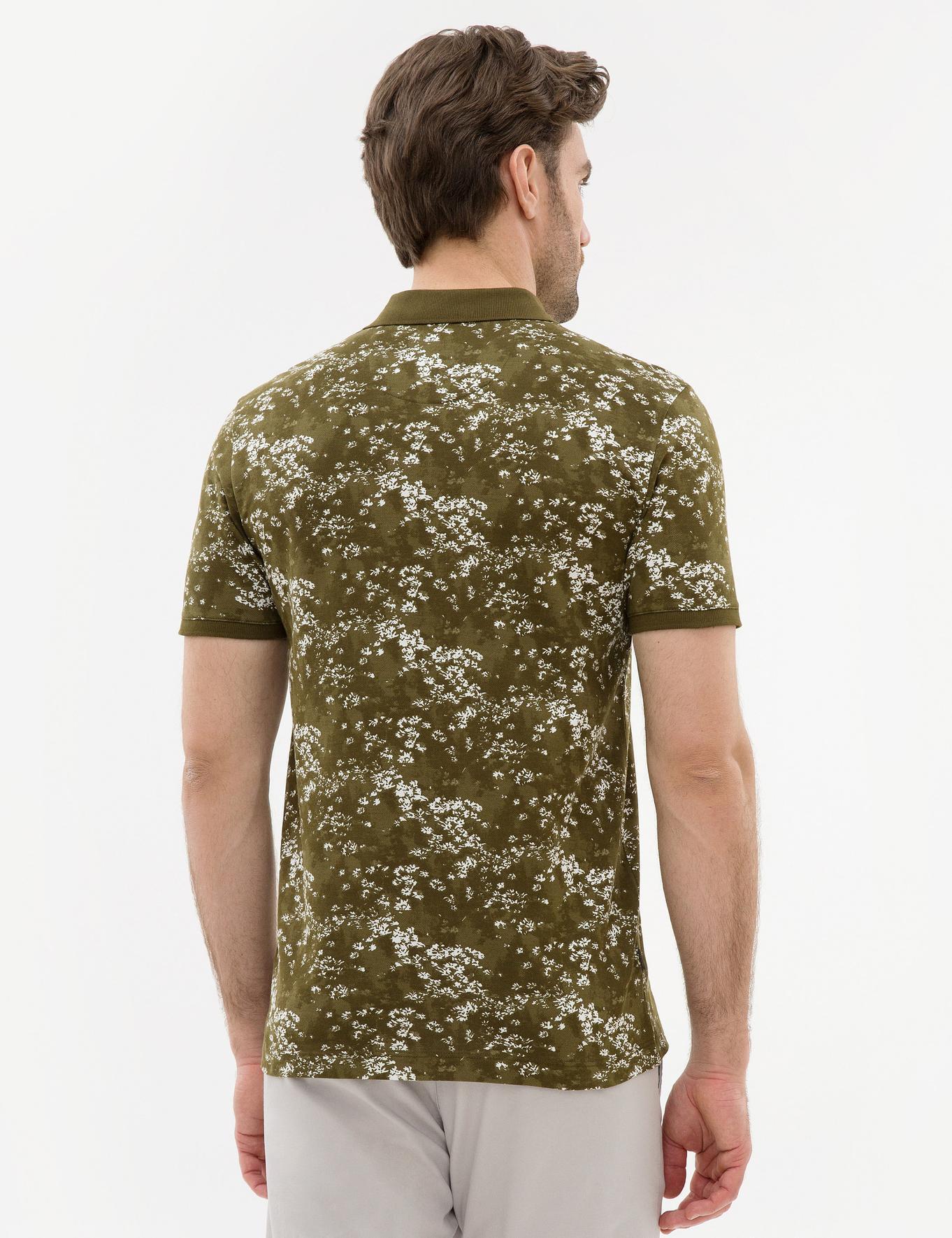 Açık Haki Slim Fit Polo Yaka T-Shirt