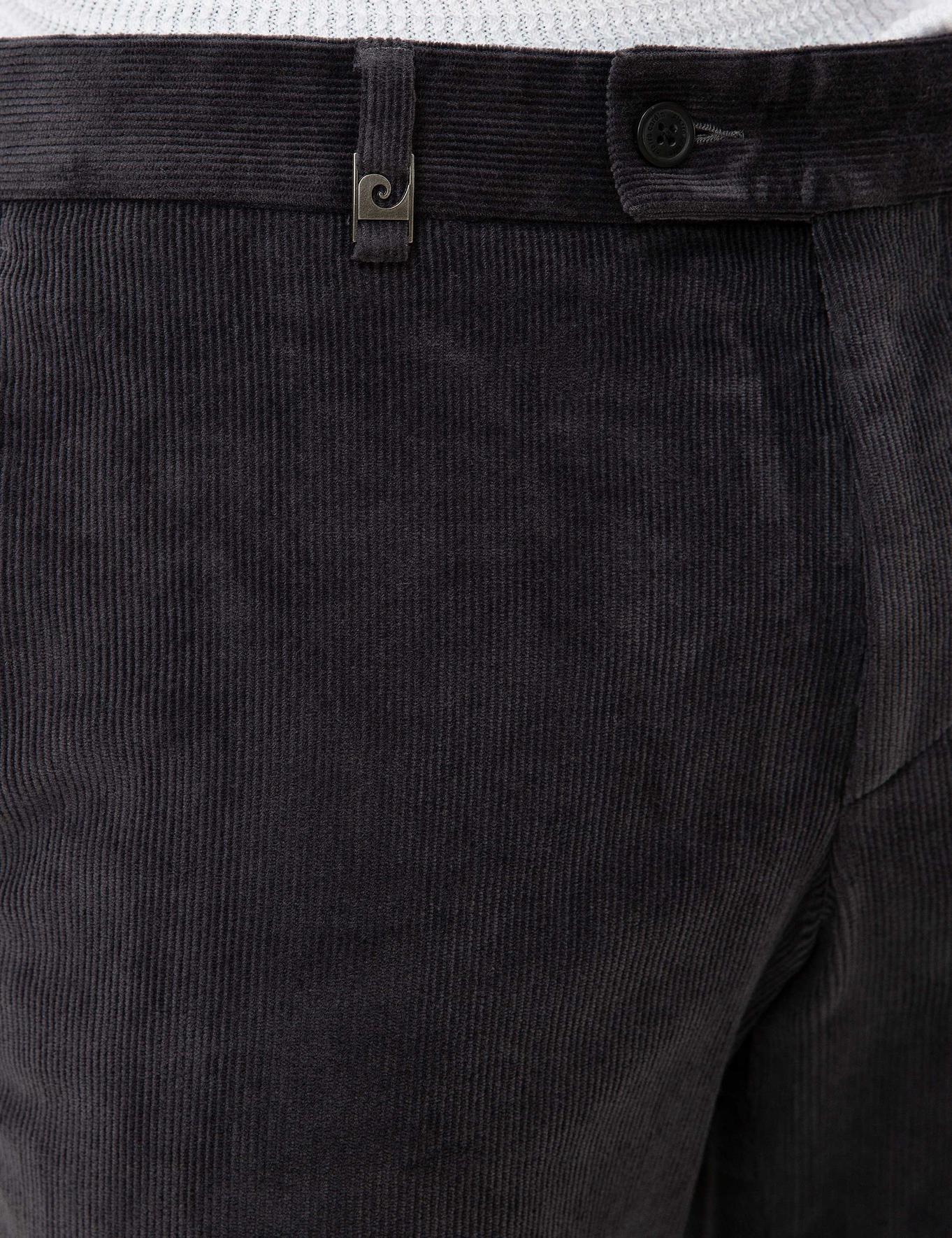 Füme Slim Fit Kadife Pantolon