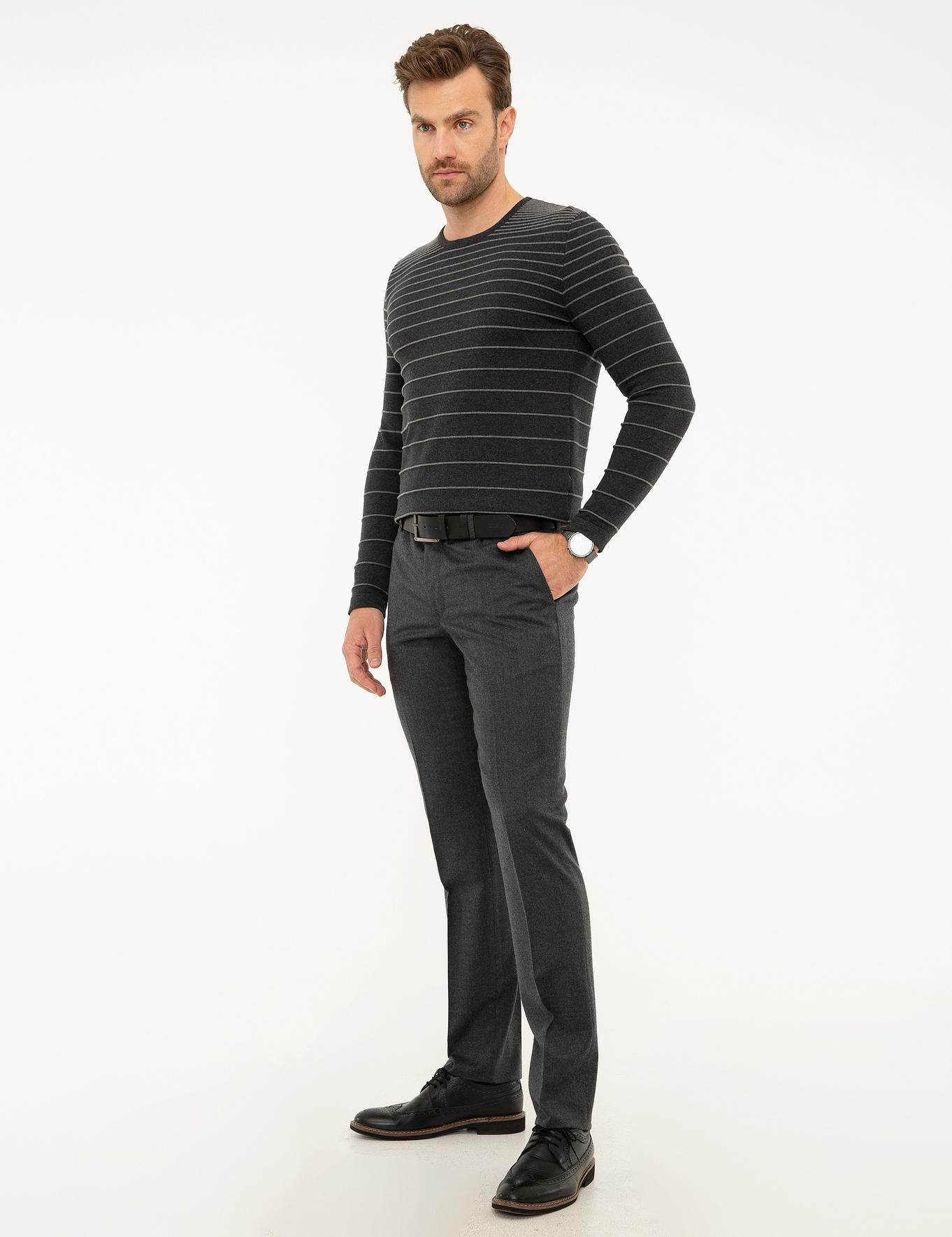 Antrasit Slim Fit Pantolon