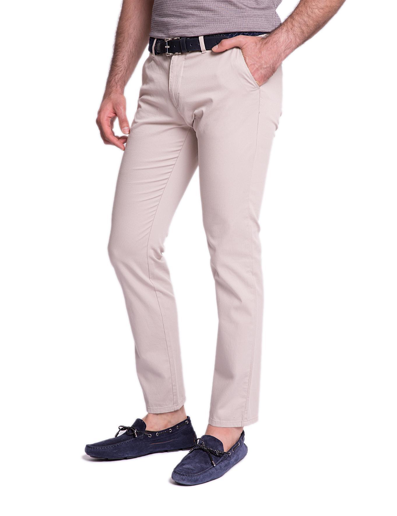 Gri Slim Kanvas Pantolon