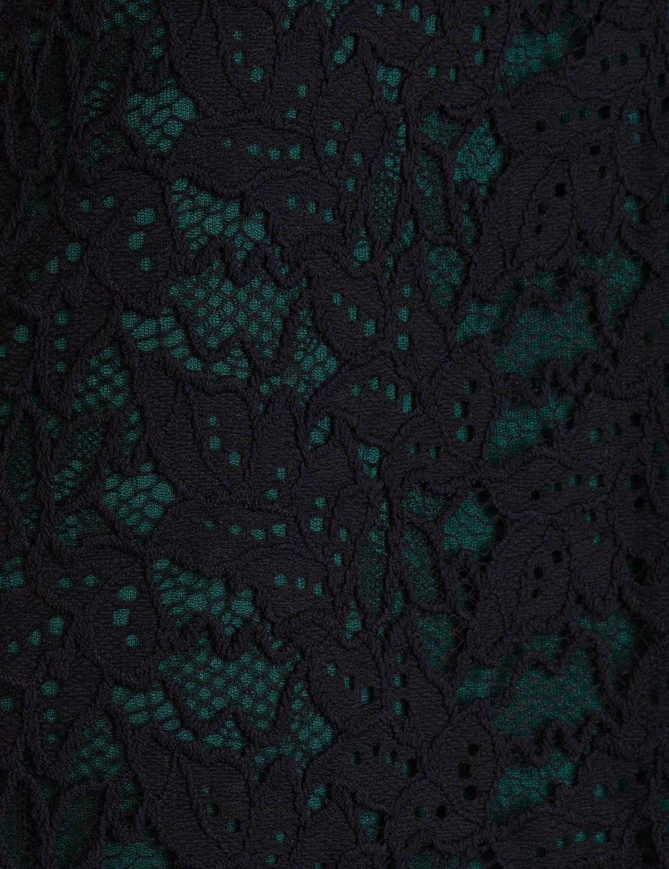 Koyu Yeşil Dokuma Elbise