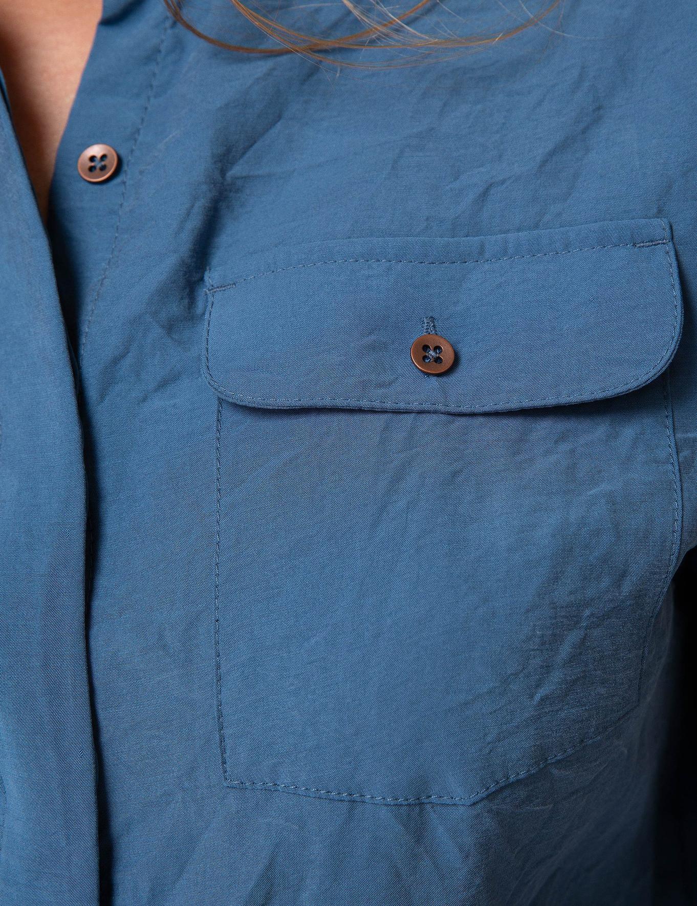 Mavi Dokuma Gömlek