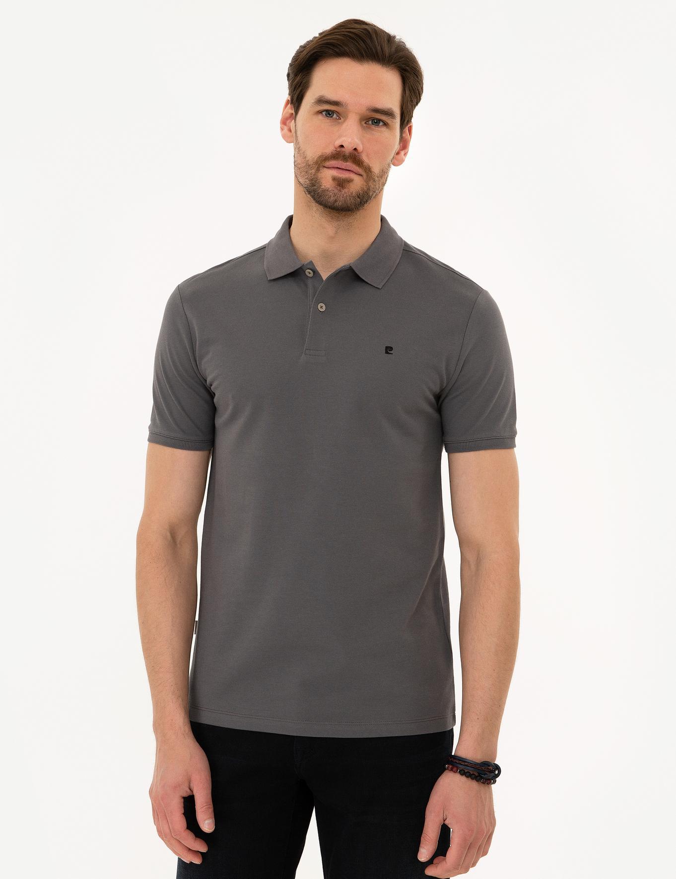 Koyu Gri Slim Fit T-Shirt