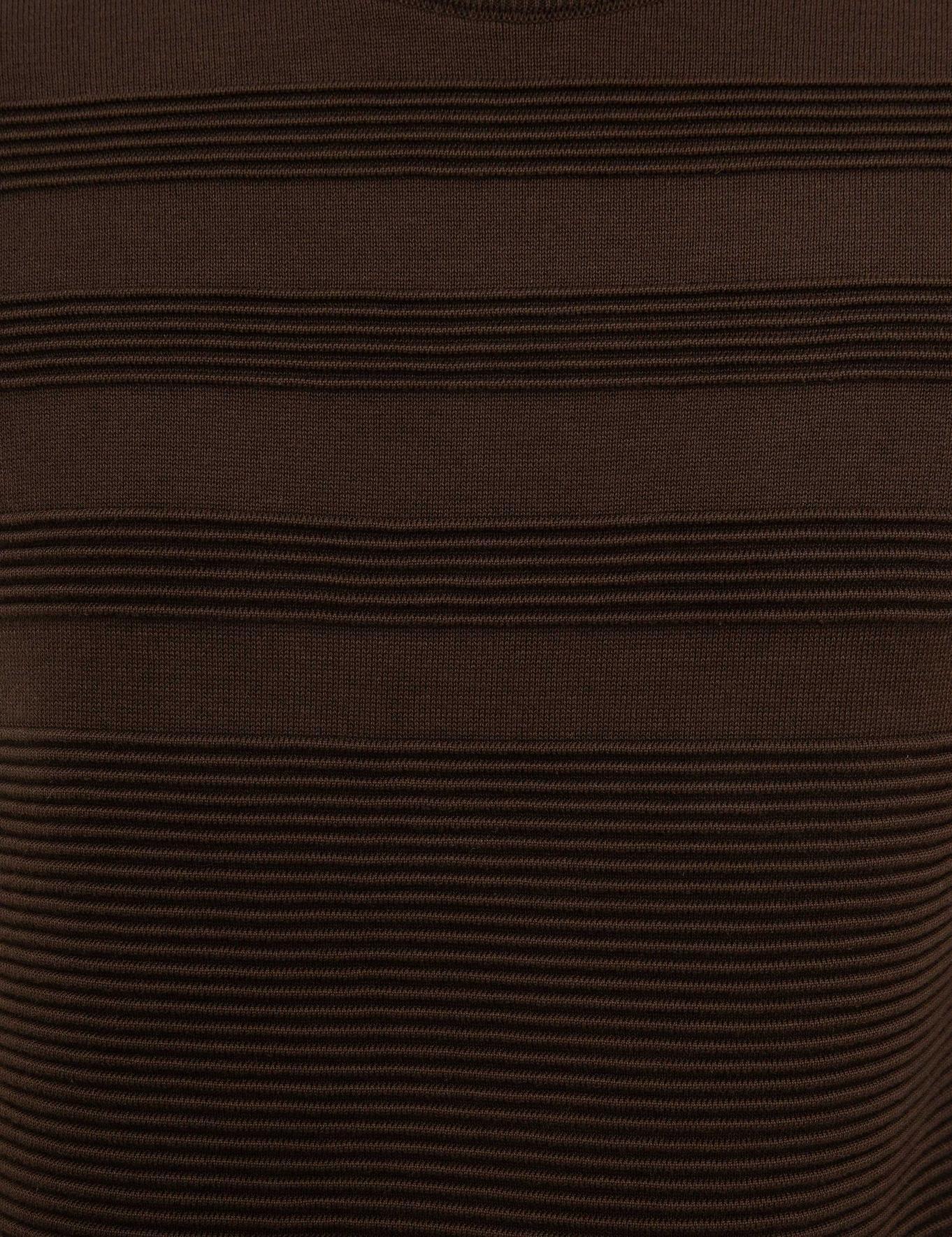 Kahverengi Slim Fit Triko Kazak