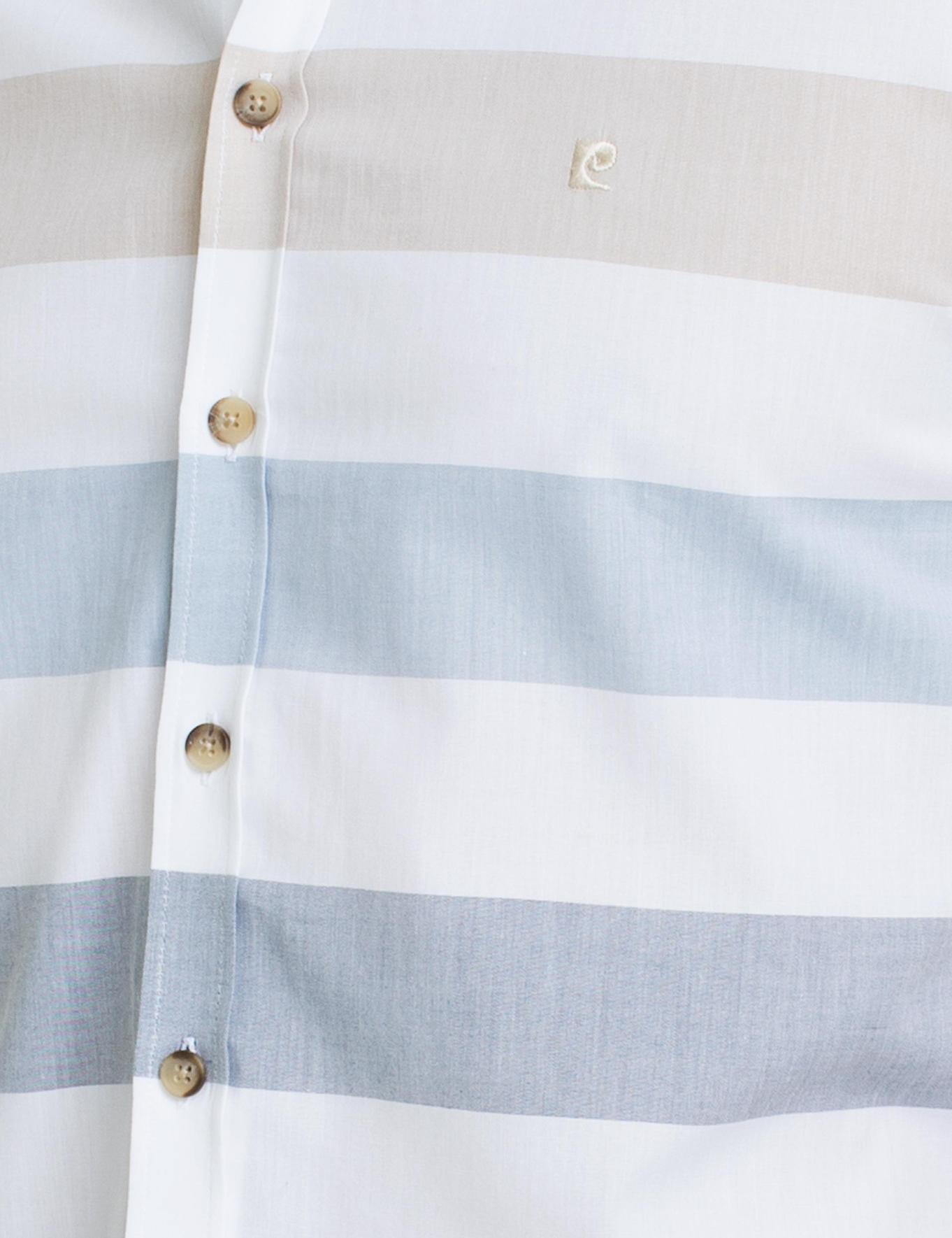 Sarı Slim Fit Kısa Kollu Gömlek
