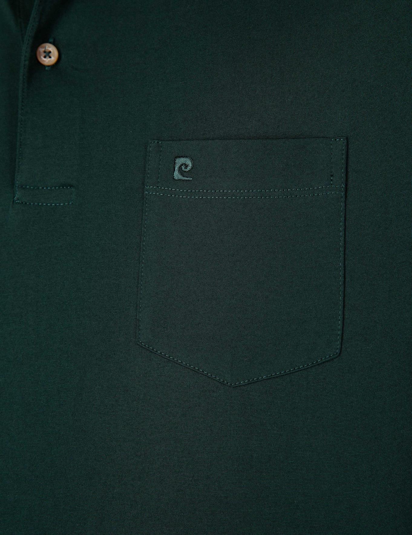 Koyu Yeşil Regular Fit Basic Polo Yaka T-Shirt