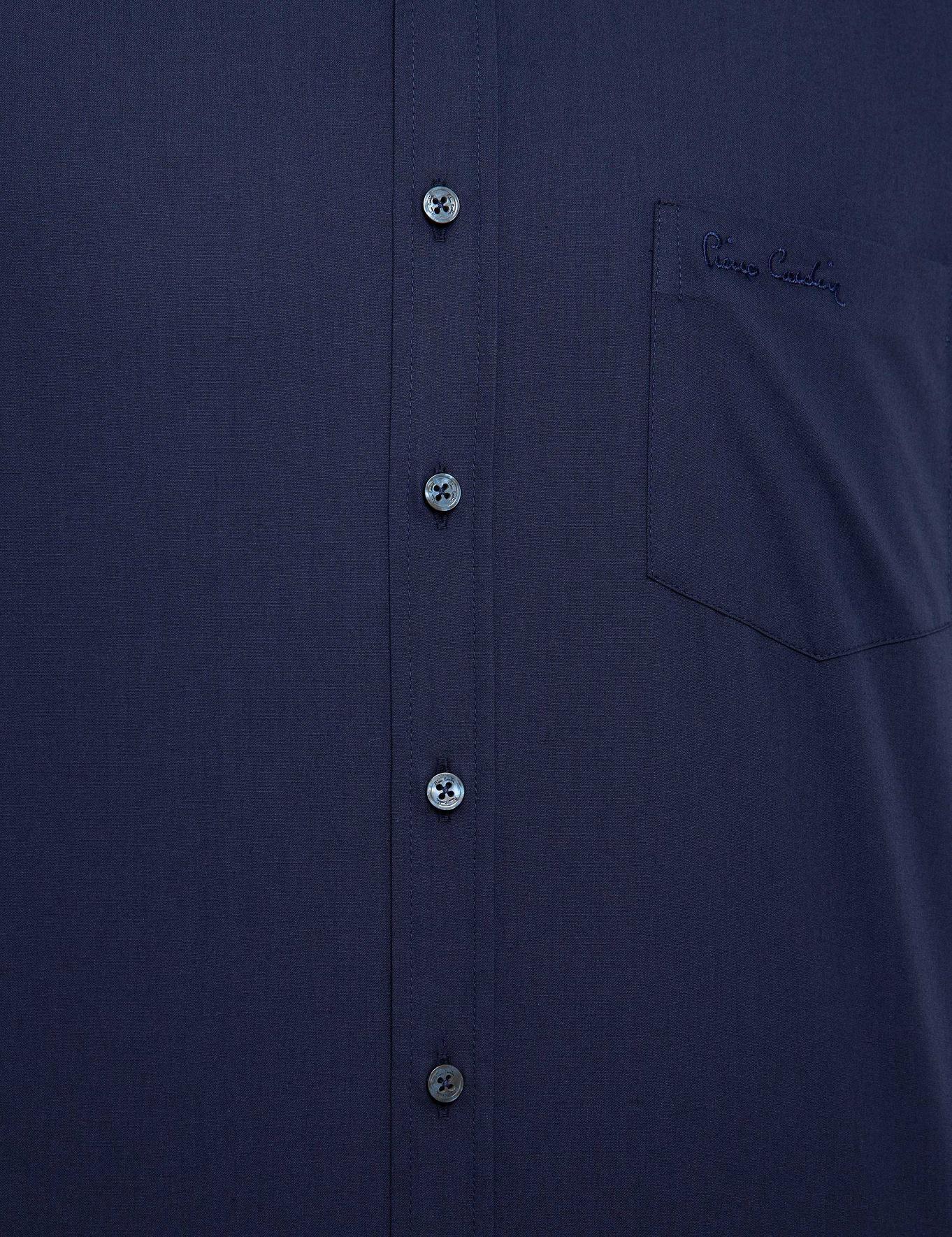 Lacivert Regular Fit Basic Gömlek