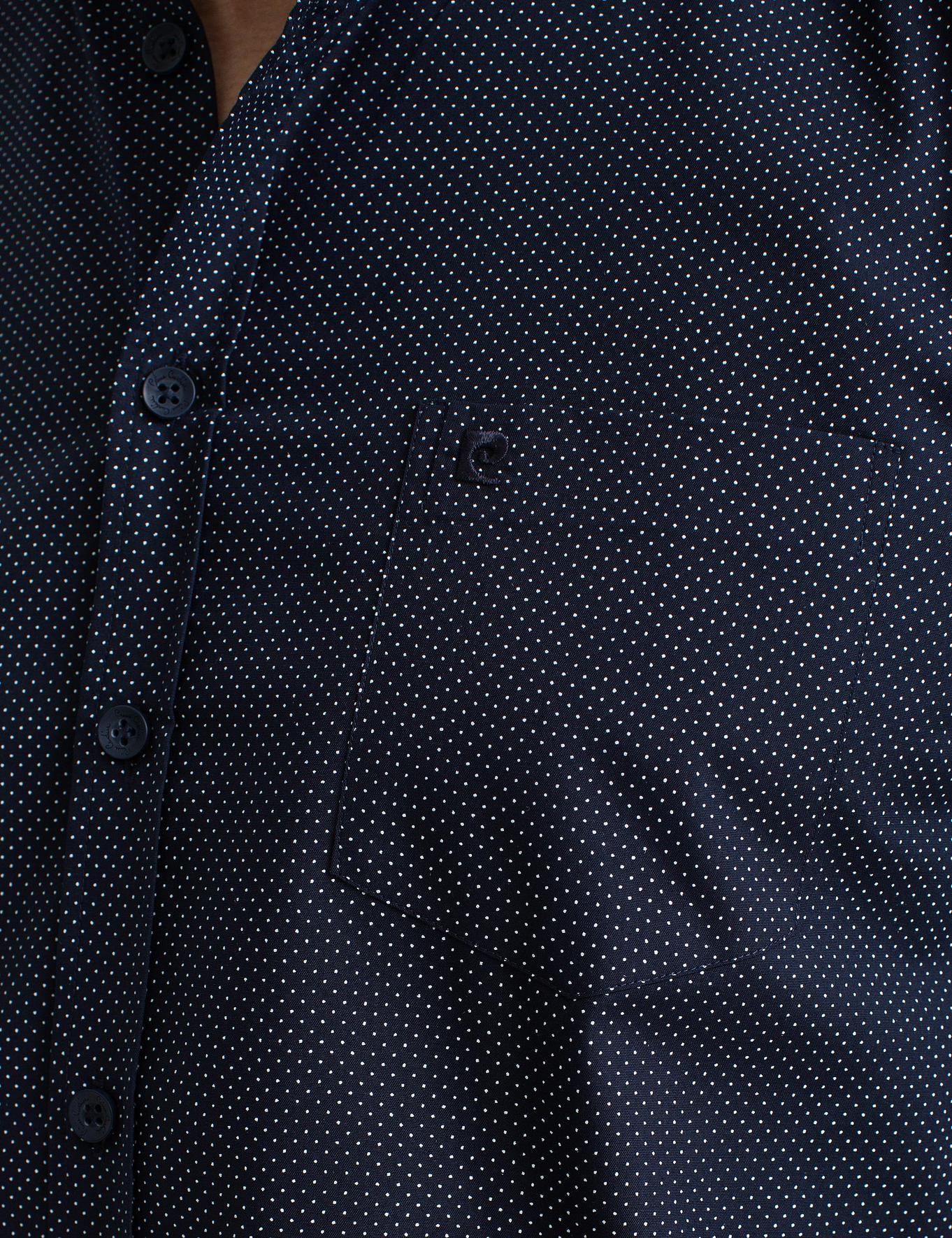Lacivert Regular Fit Kısakol Gömlek