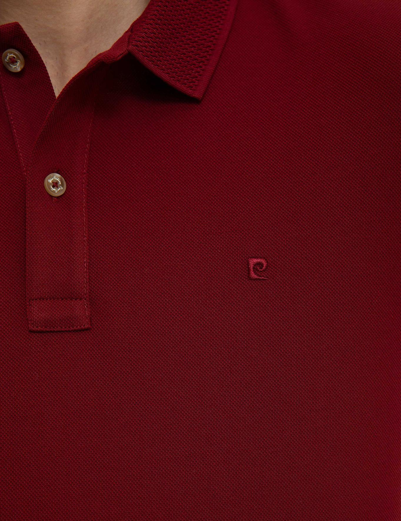 Bordo Slim Fit Basic Polo Yaka T-Shirt