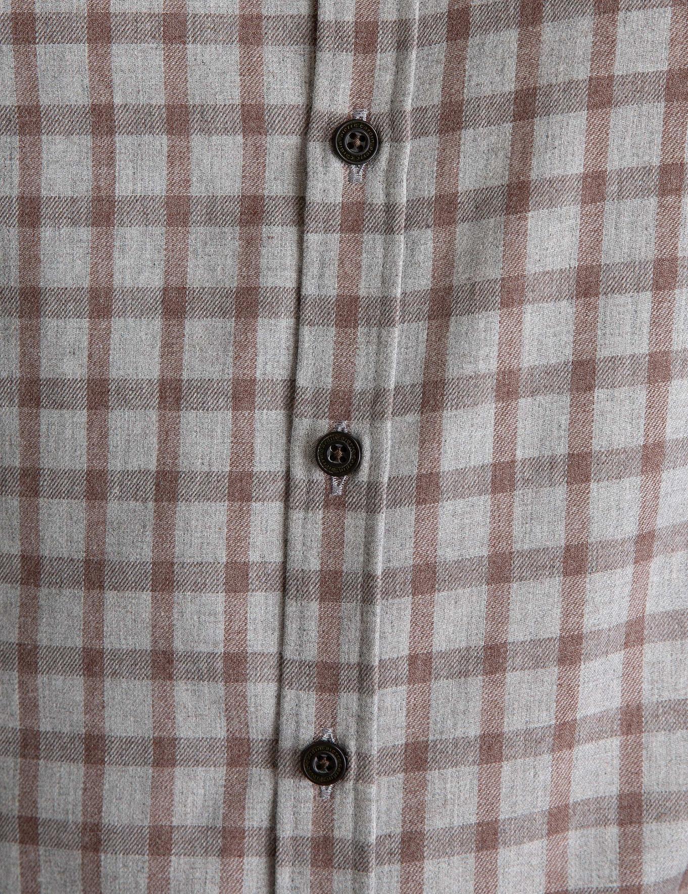 Açık Kahverengi Slim Fit Gömlek