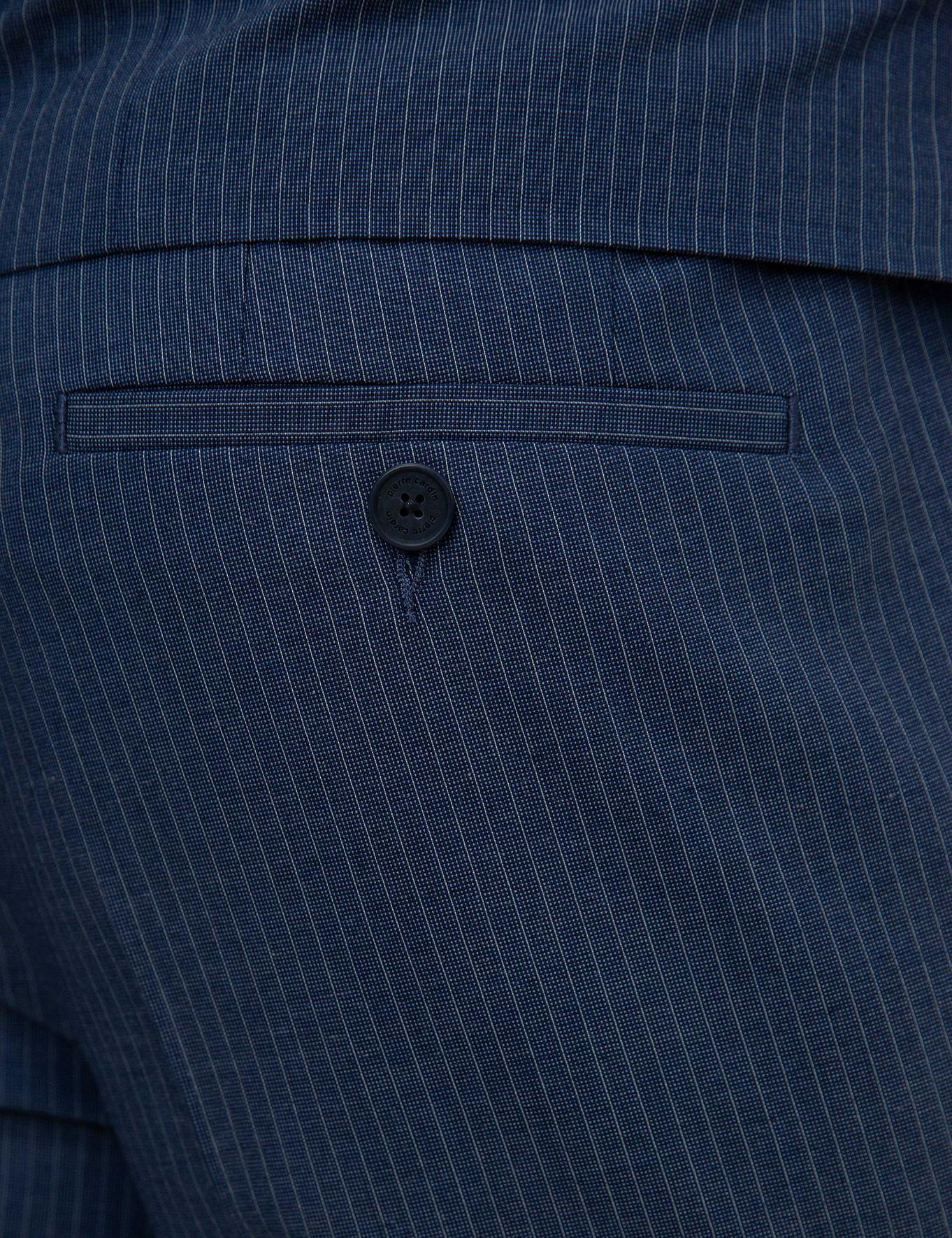 Koyu Mavi Slim Fit Takım Elbise