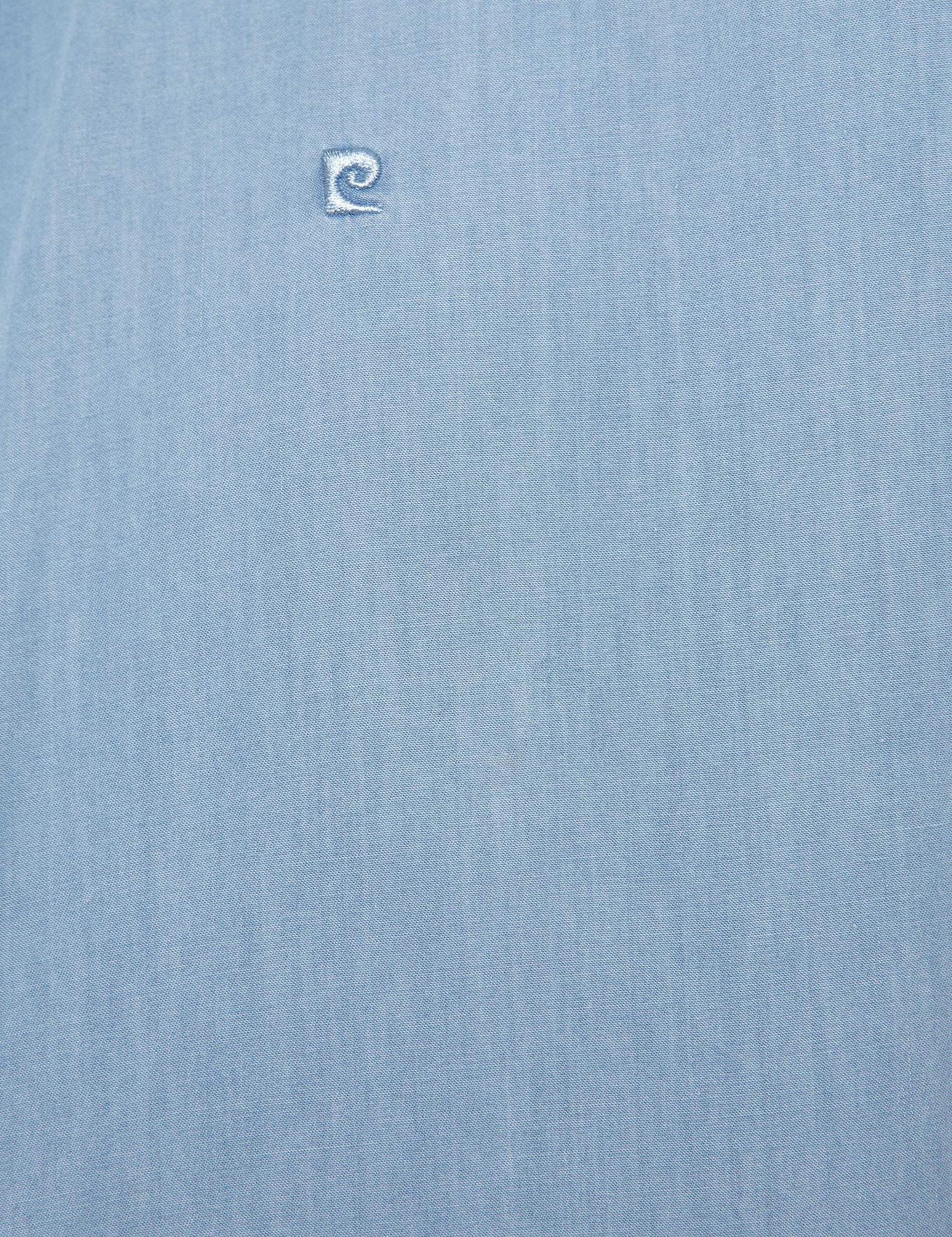 Mavi Slim Fit Kısakol Gömlek