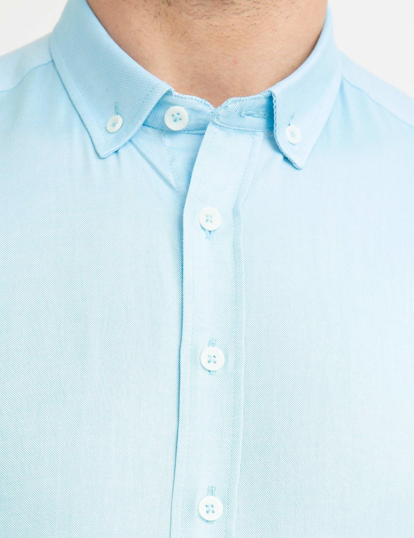 Aqua Mavi Slim Fit Gömlek