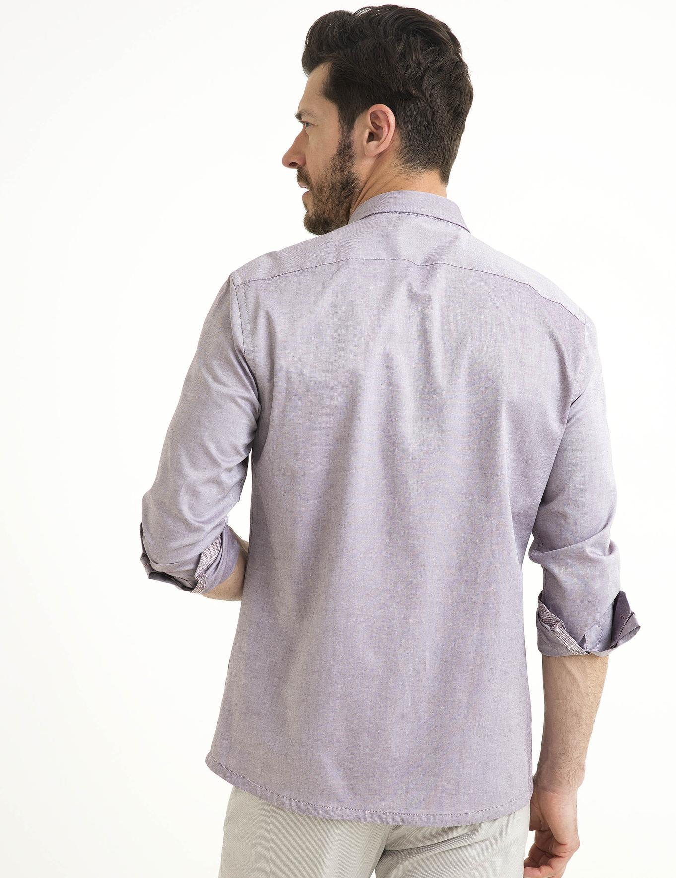 Bordo Slim Fit Gömlek