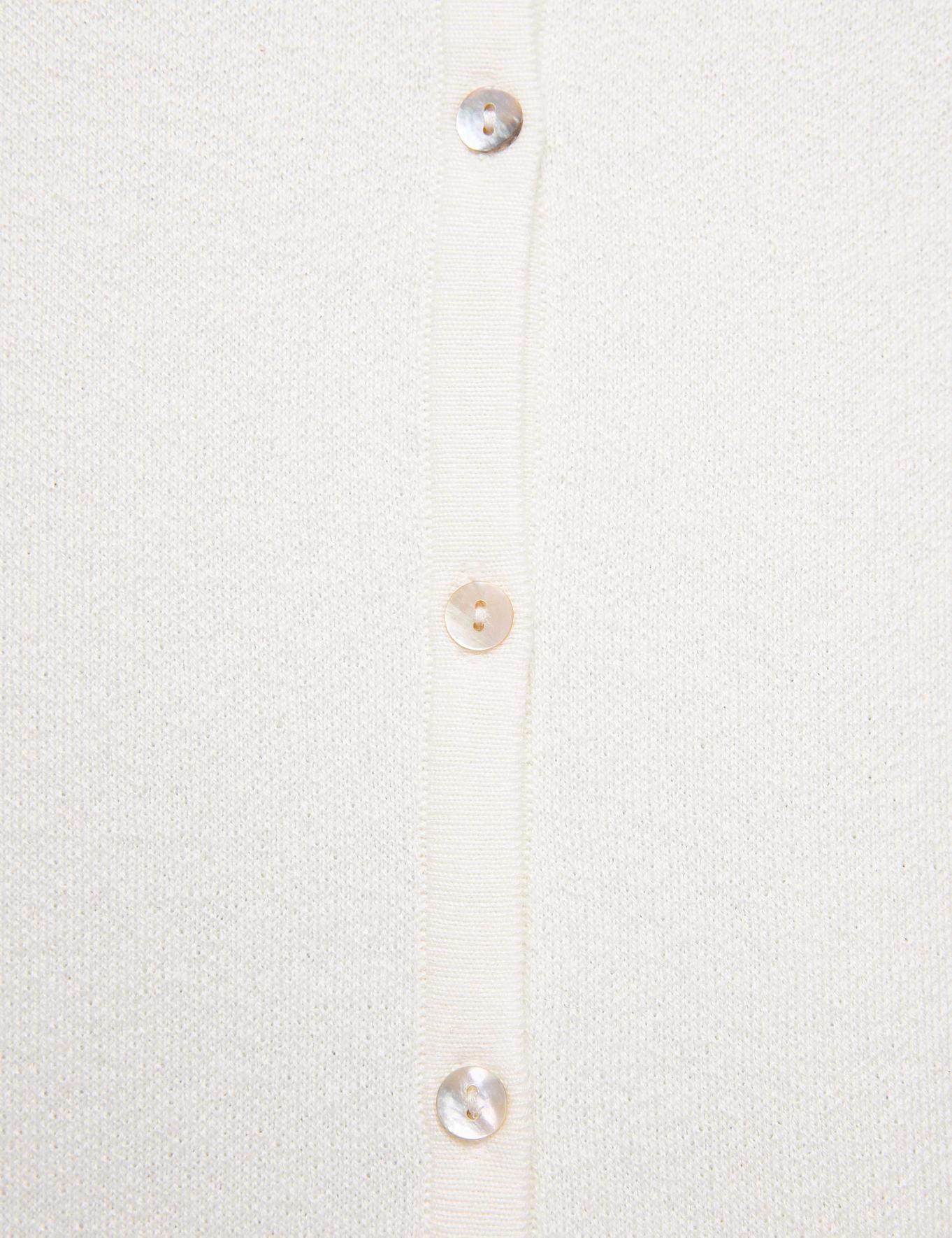 Beyaz Triko Hırka