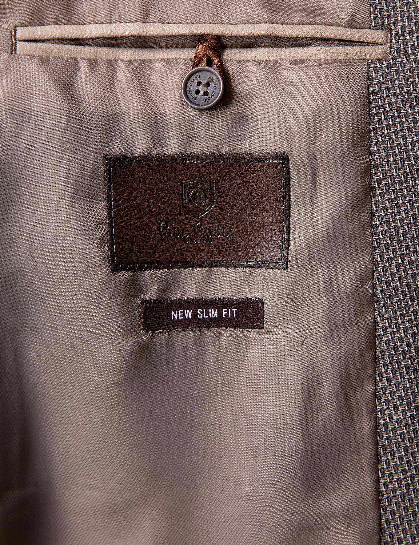 Kahverengi Ekstra Slim Fit Ceket