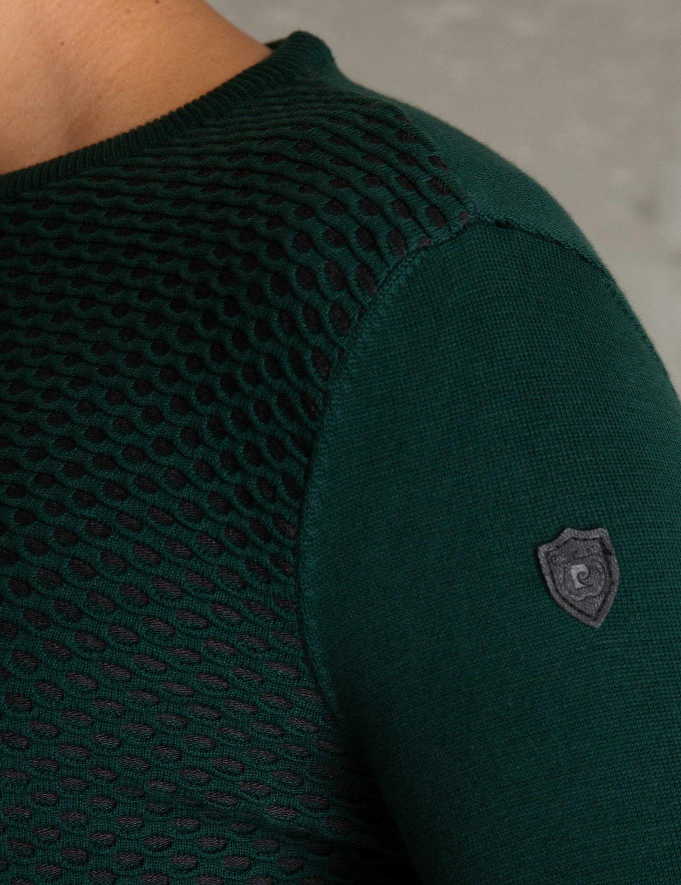 Koyu Yeşil Slim Fit Triko Kazak