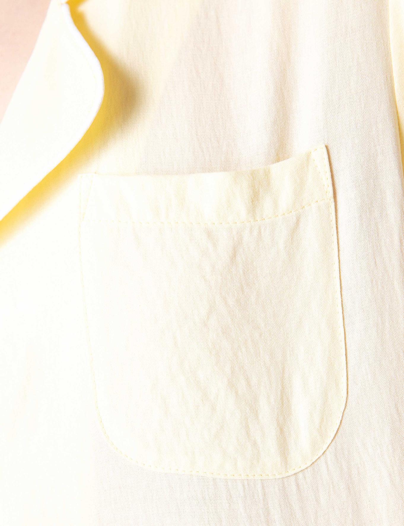 Açık Sarı Dokuma Gömlek