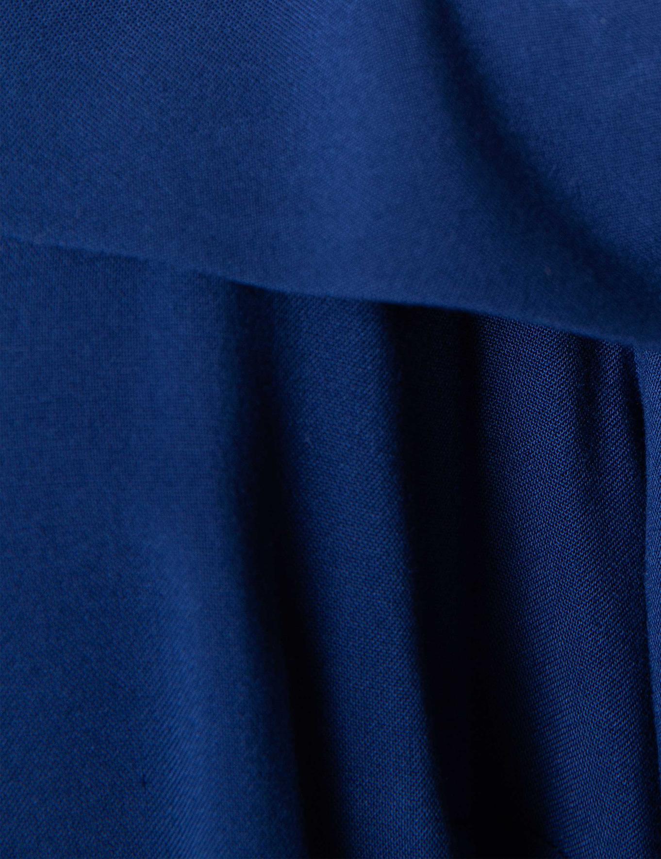 Lacivert Dokuma Elbise