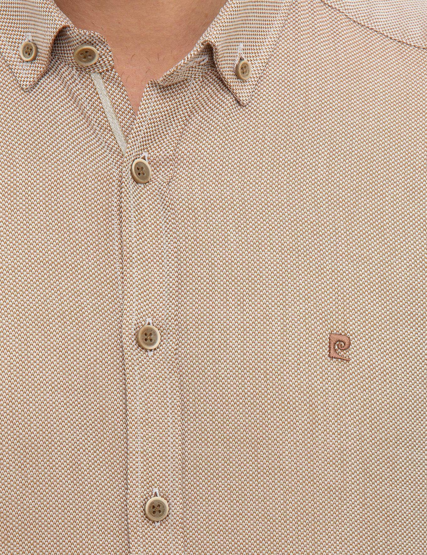 Bej Slim Fit Oxford Gömlek