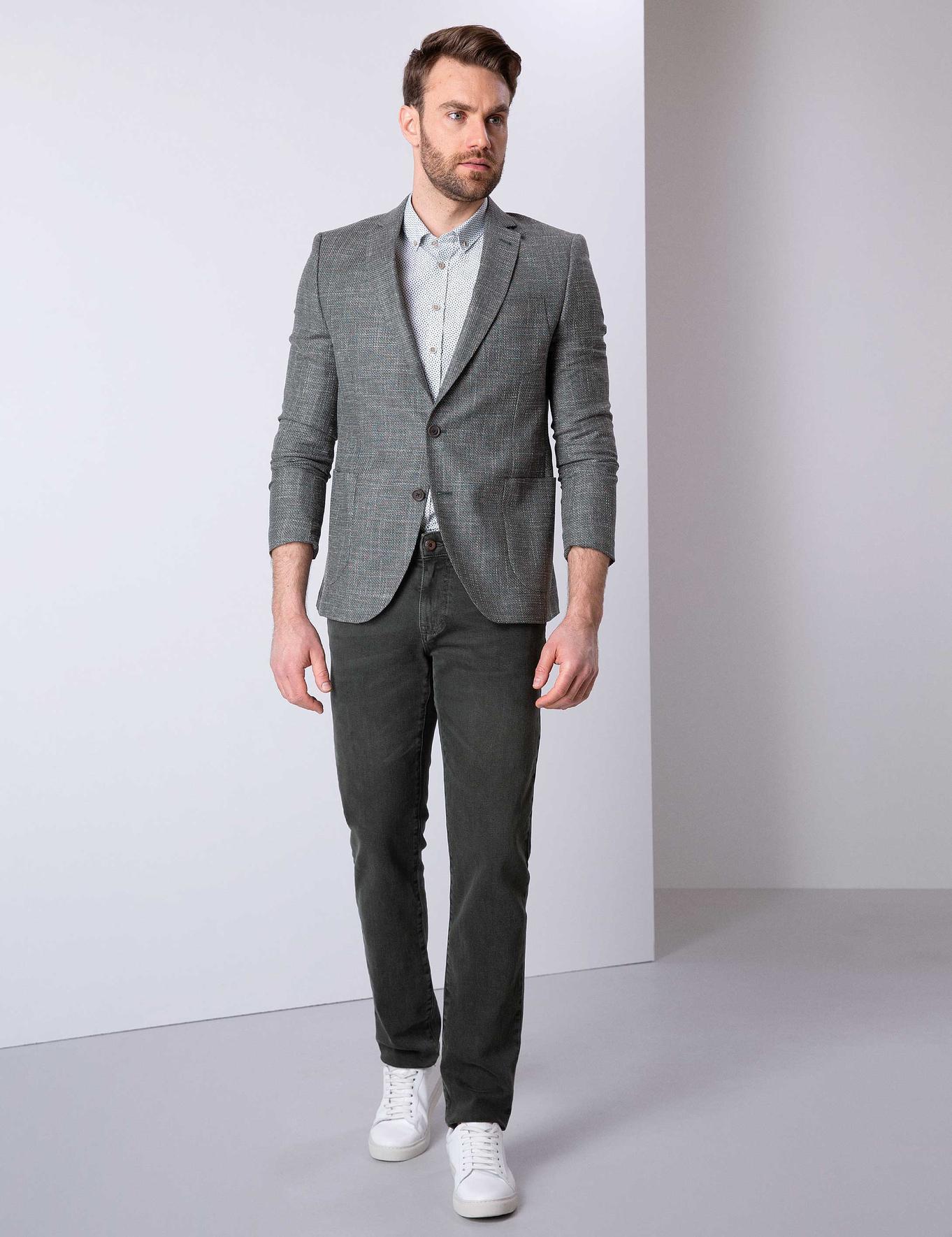 Koyu Yeşil Ekstra Slim Fit Ceket