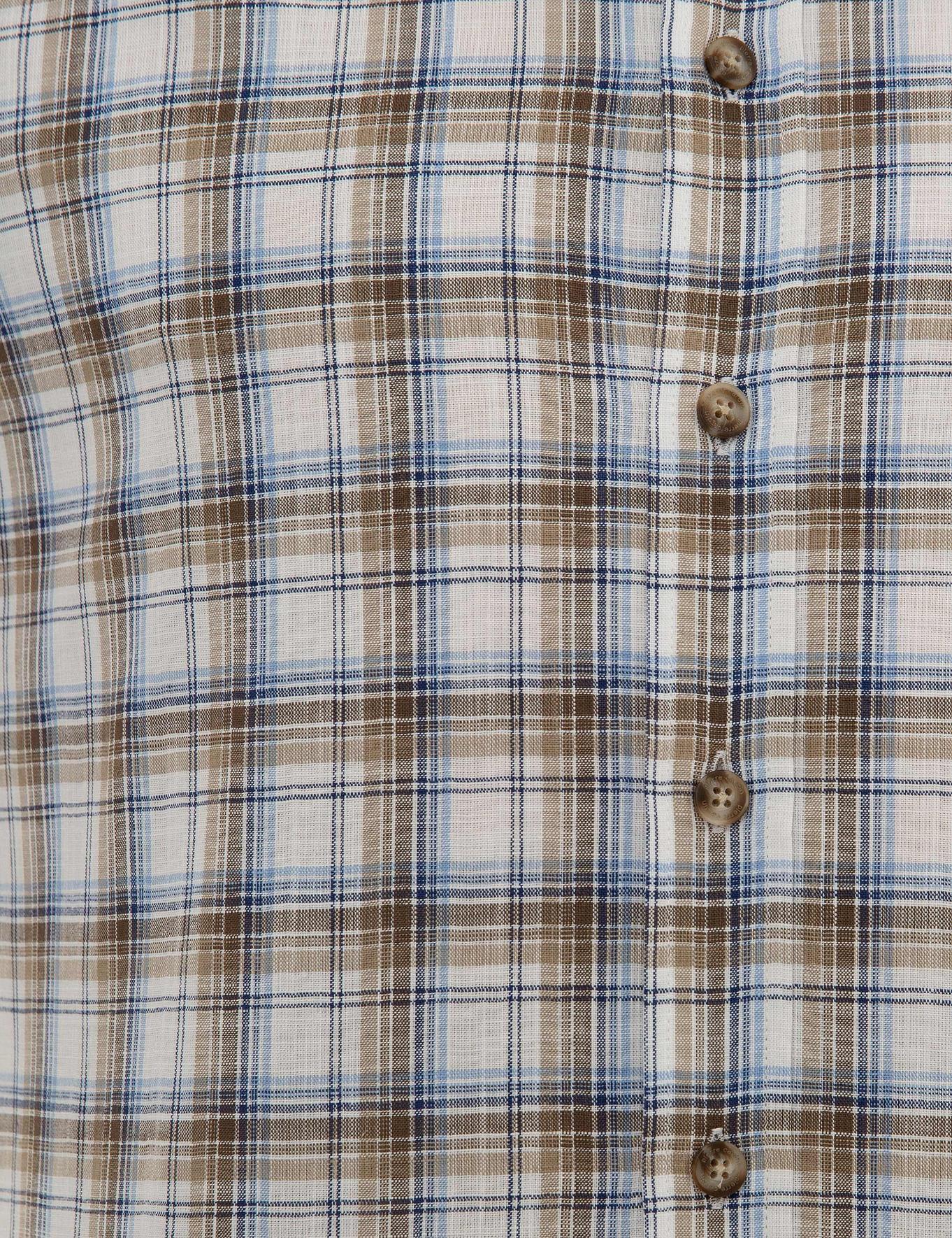 Kahverengi Regular Fit Kısa Kollu Gömlek