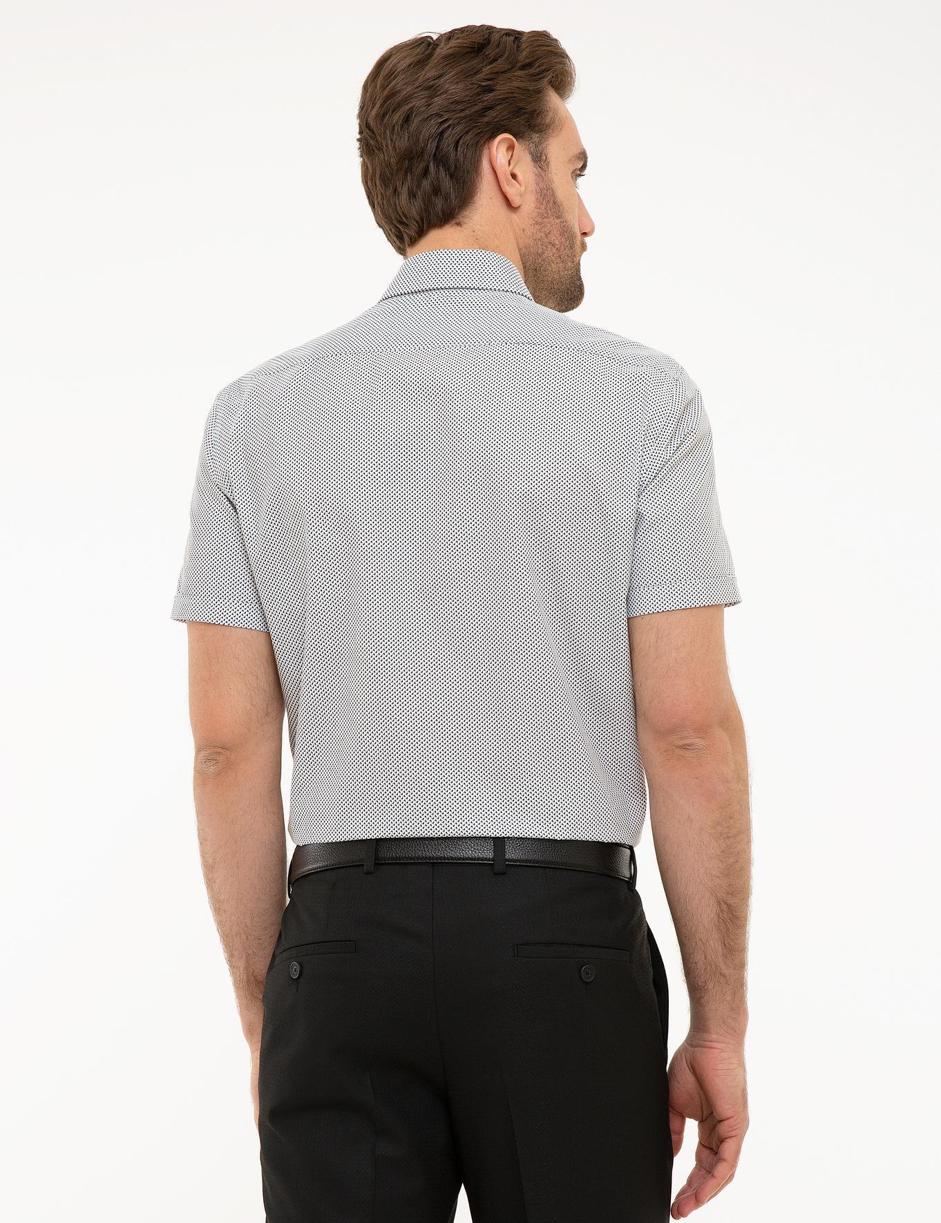 Antrasit Gri Regular Fit Kısakol Gömlek