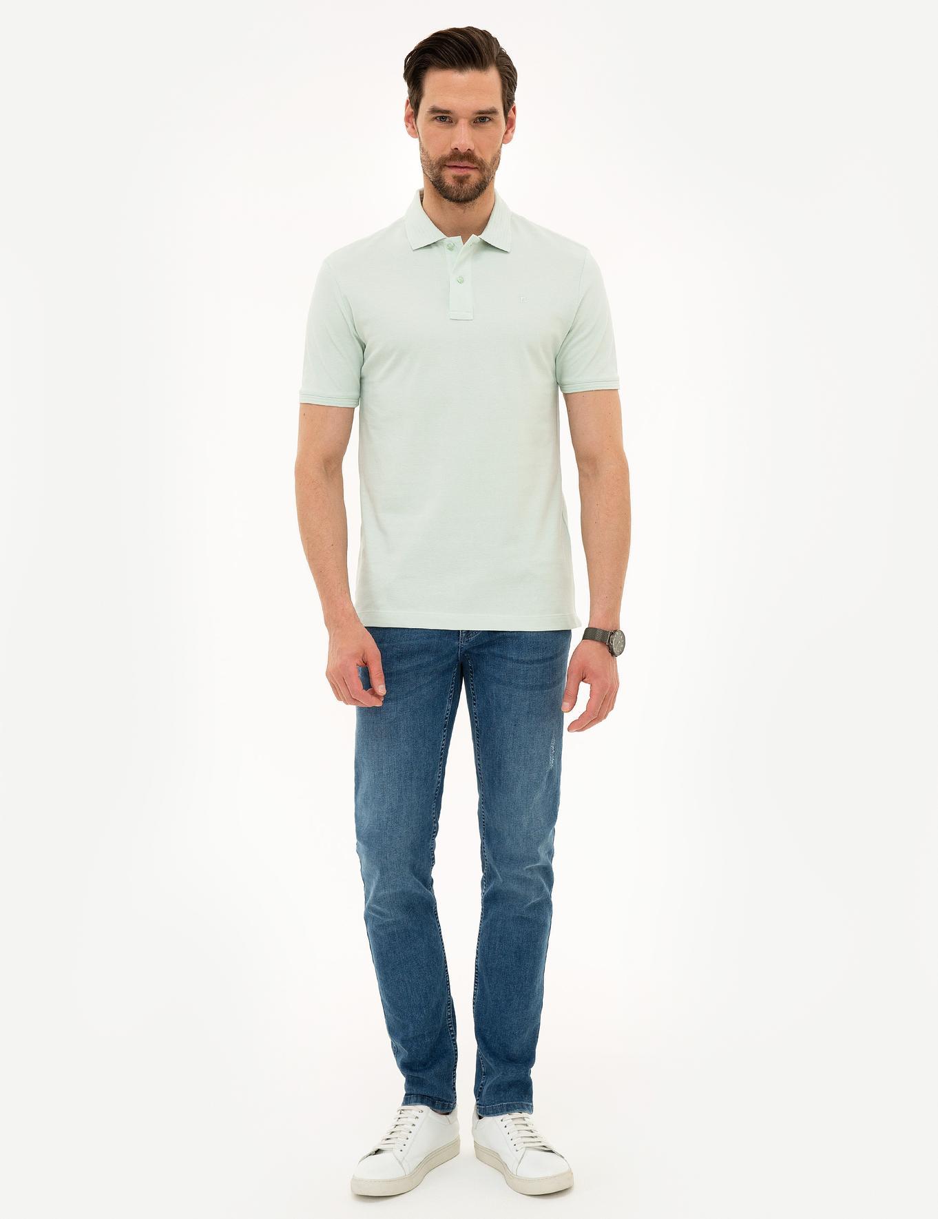 Mint Yeşil Slim Fit T-Shirt