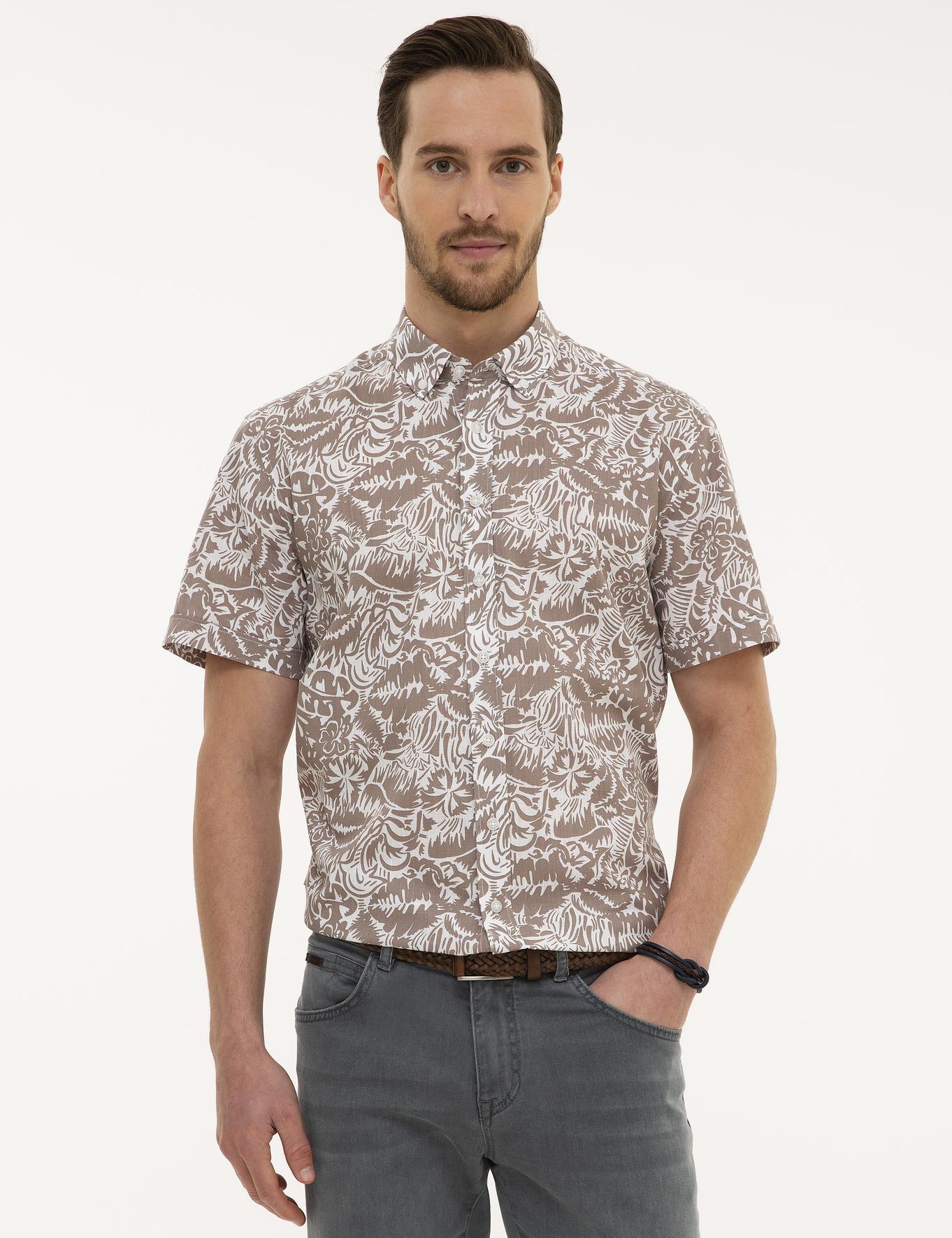 Vizon Regular Fit Kısakol Gömlek