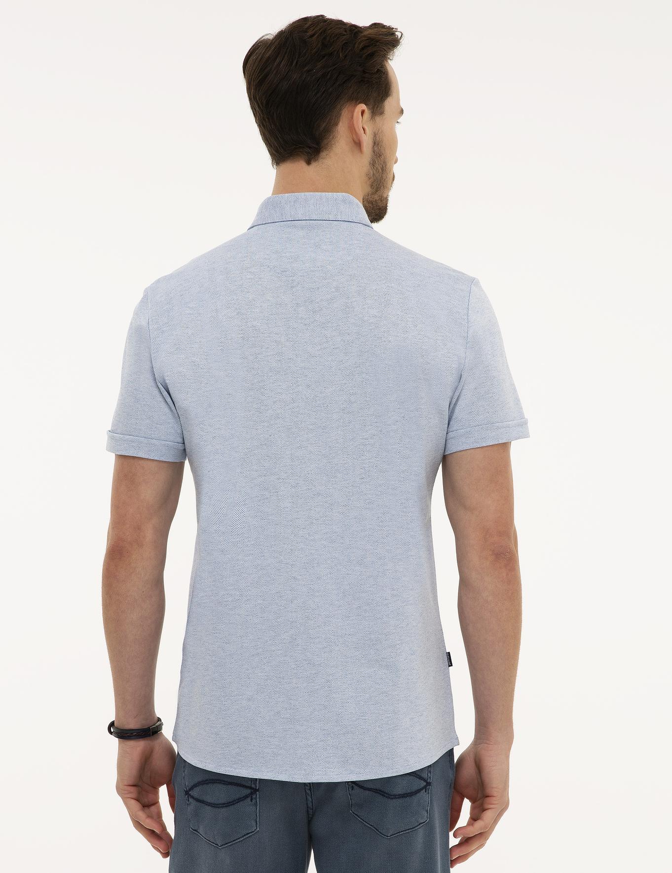 Koyu Mavi Slim Fit T-Shirt