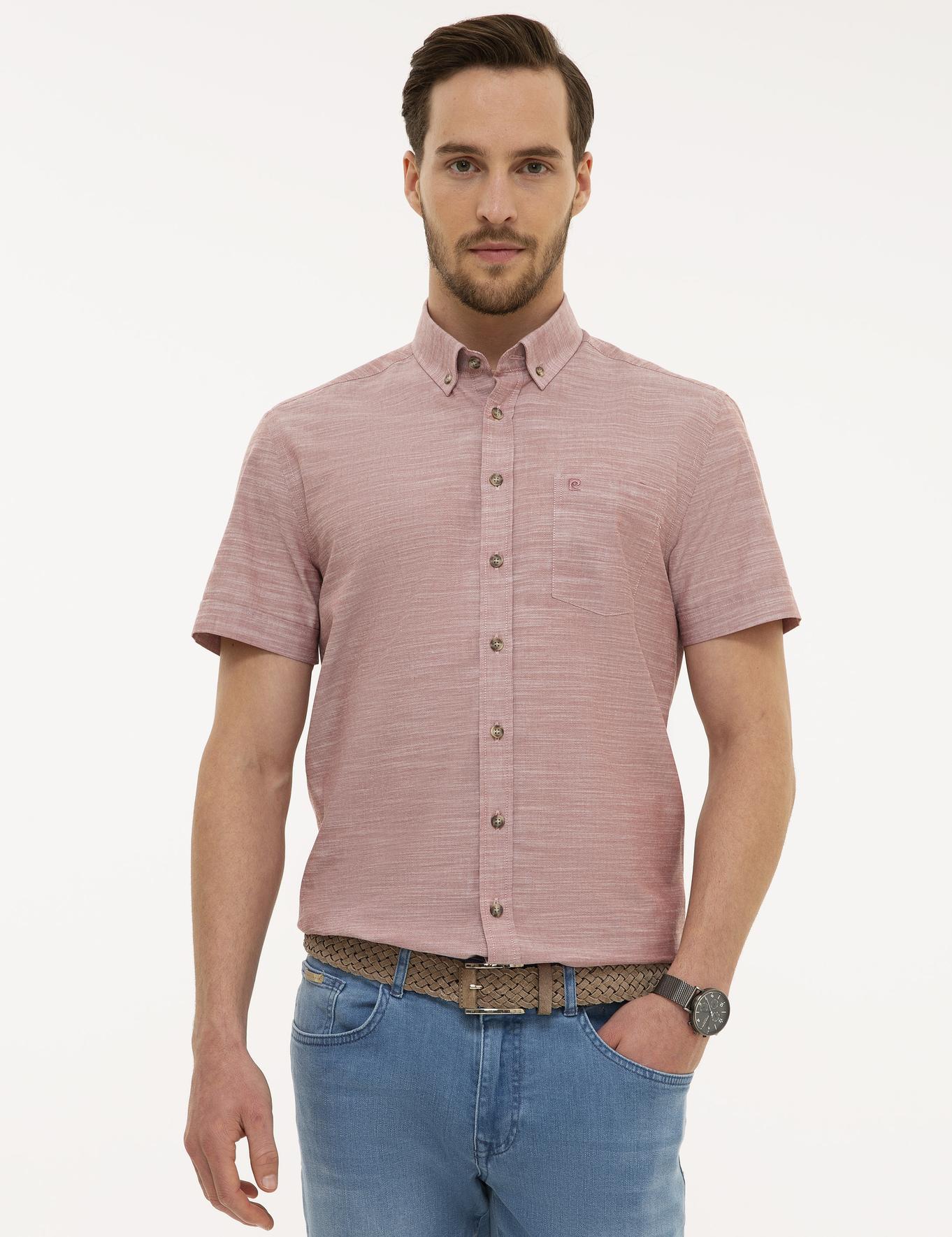 Kiremit Regular Fit Kısakol Gömlek