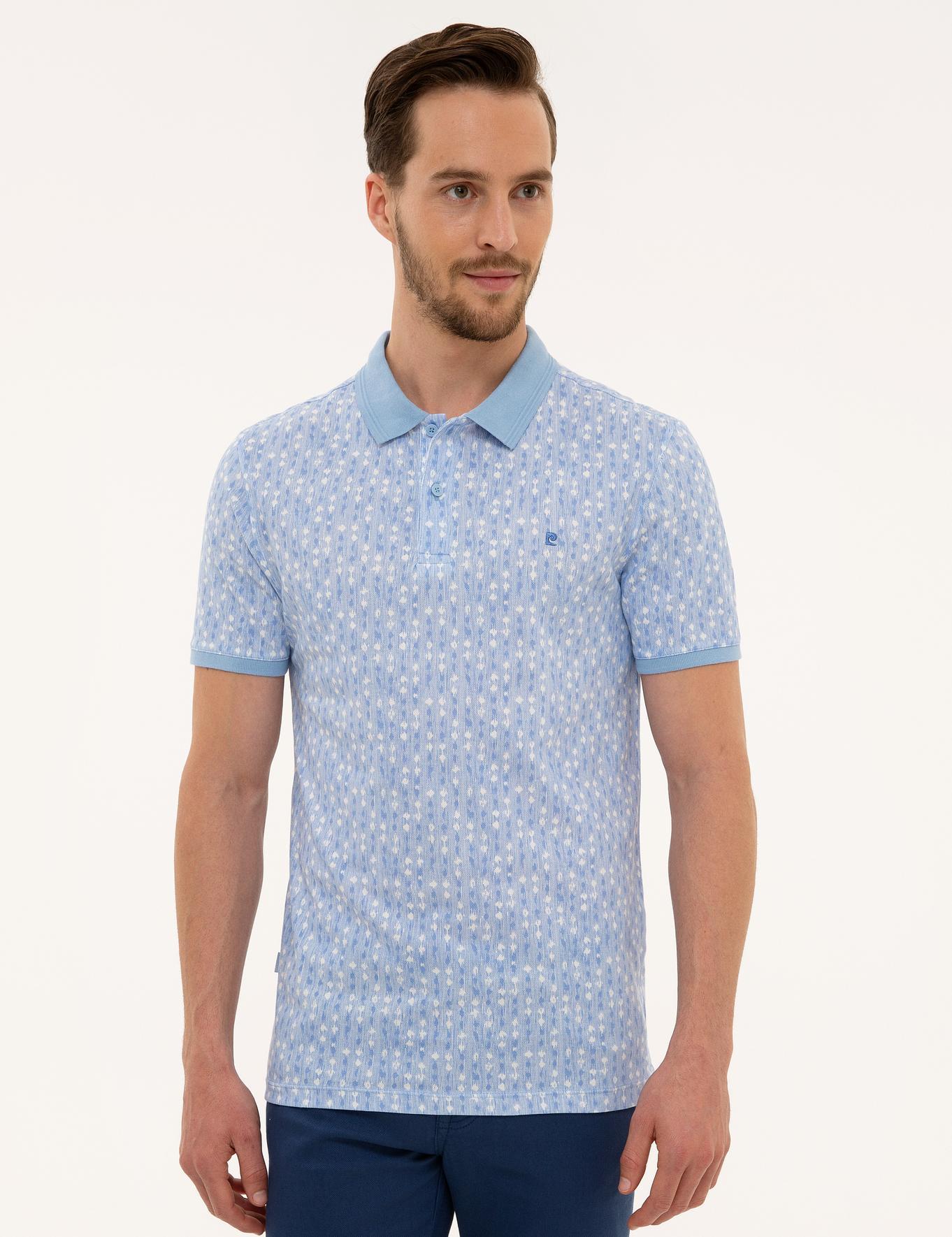 Açık Mavi Slim Fit T-Shirt