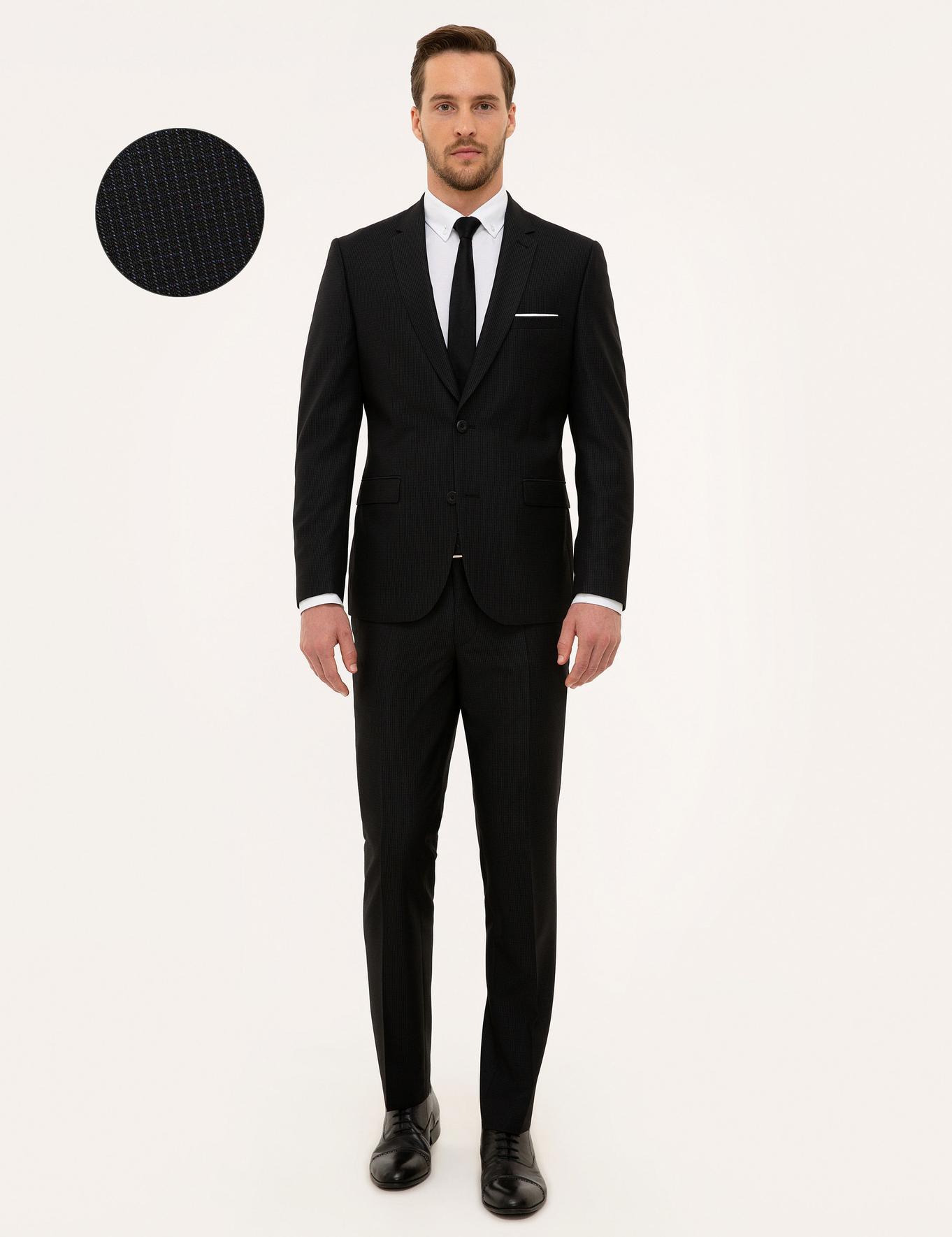 Koyu Lacivert Slim Fit Takım Elbise