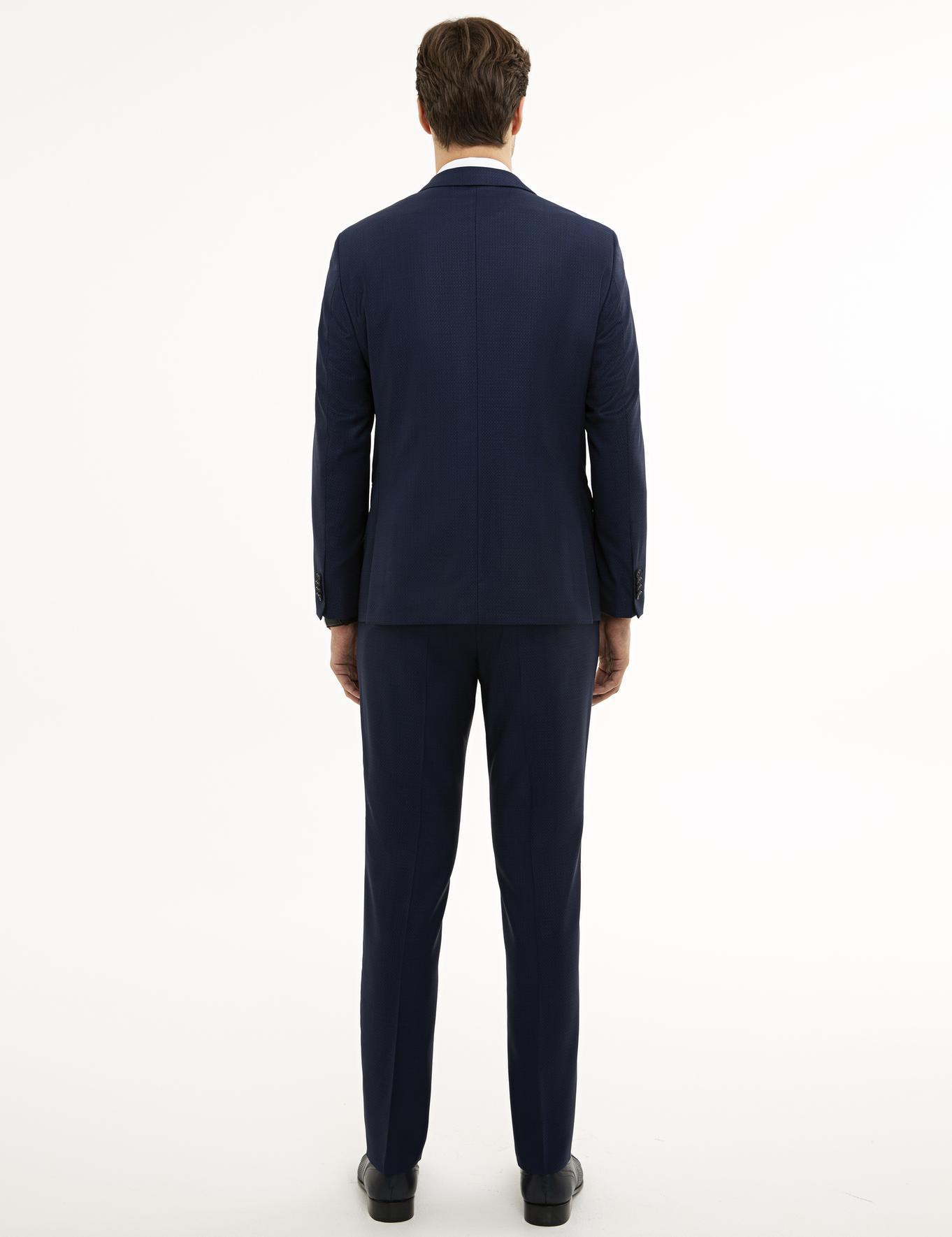 Mavi Slim Fit Takım Elbise
