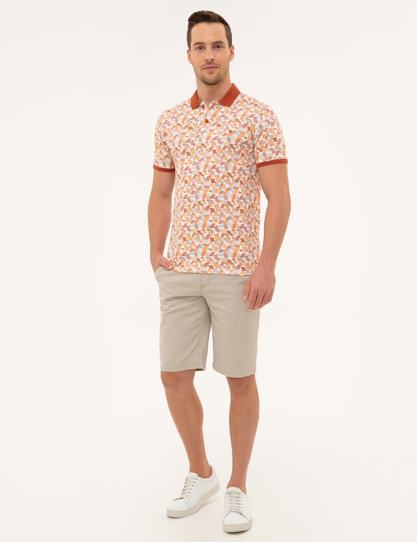 Kiremit Slim Fit Polo Yaka T-Shirt